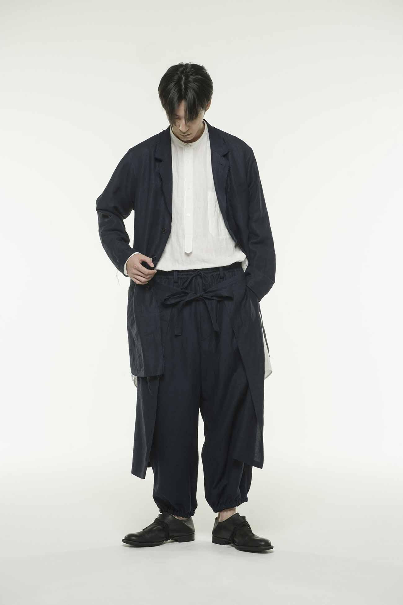 混纺围裙灯笼裤