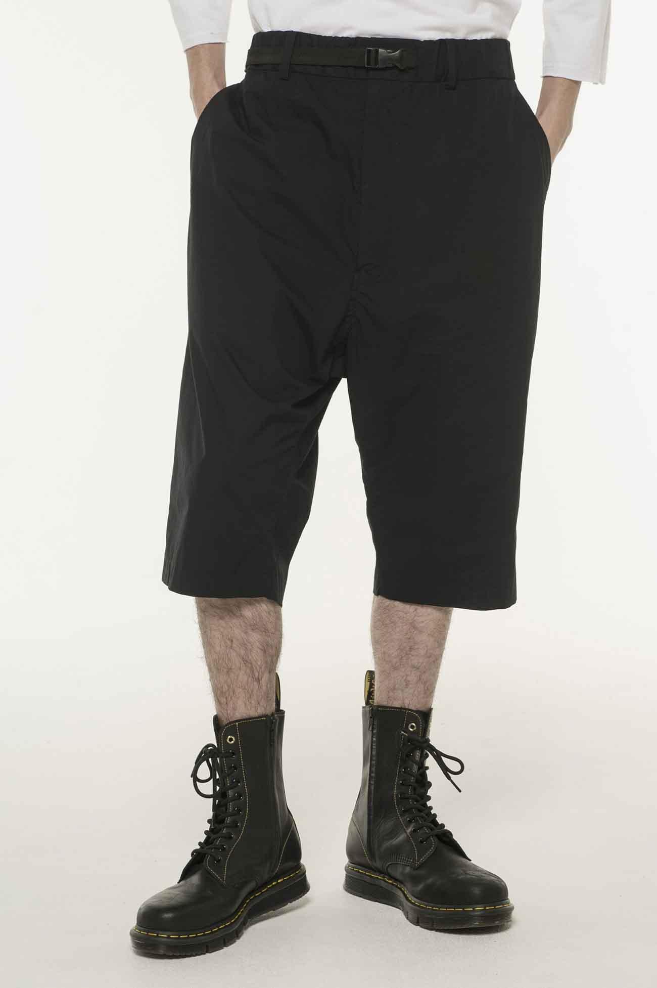 腰带收腿六分裤