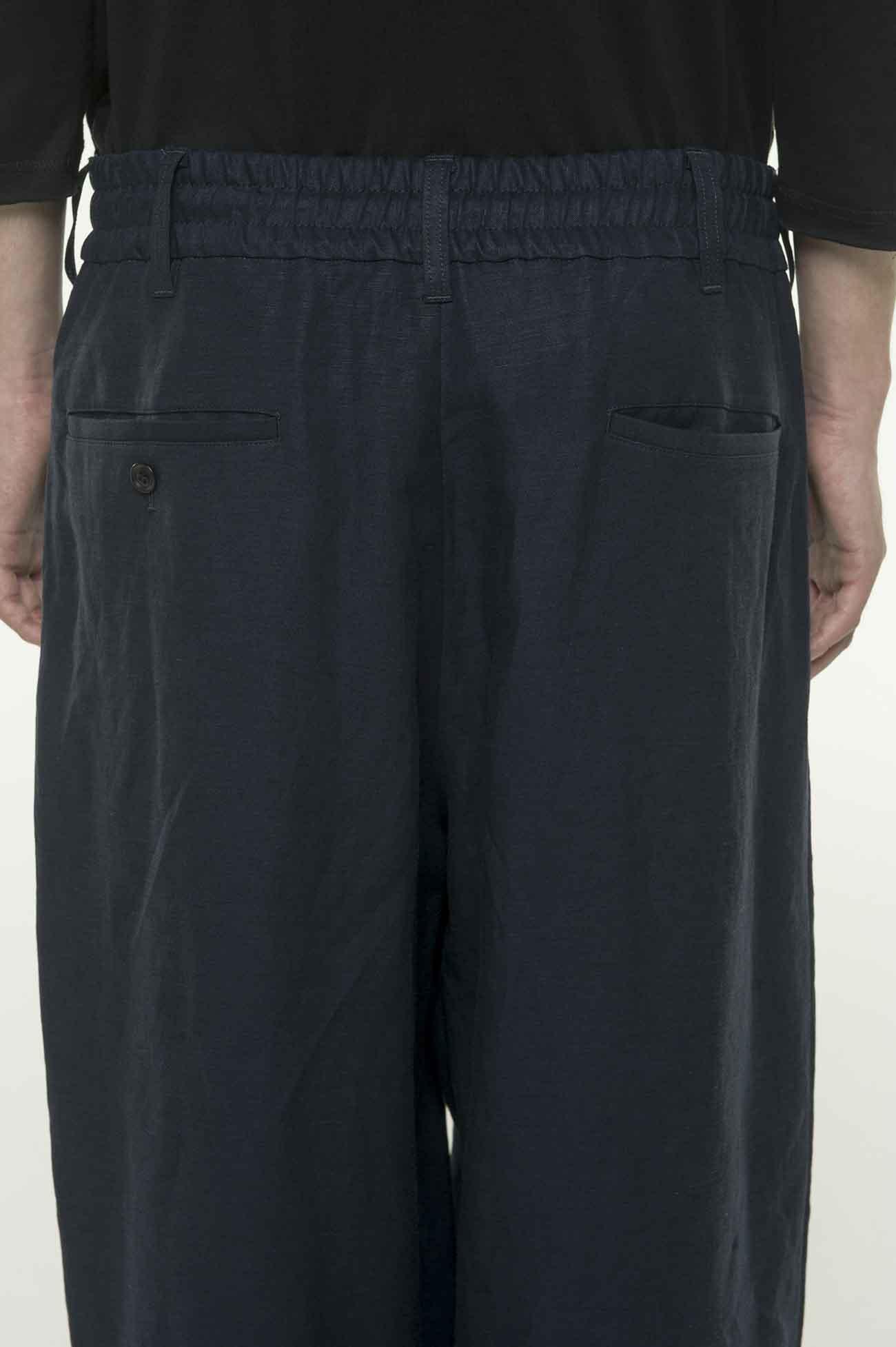 混纺宽松长裤