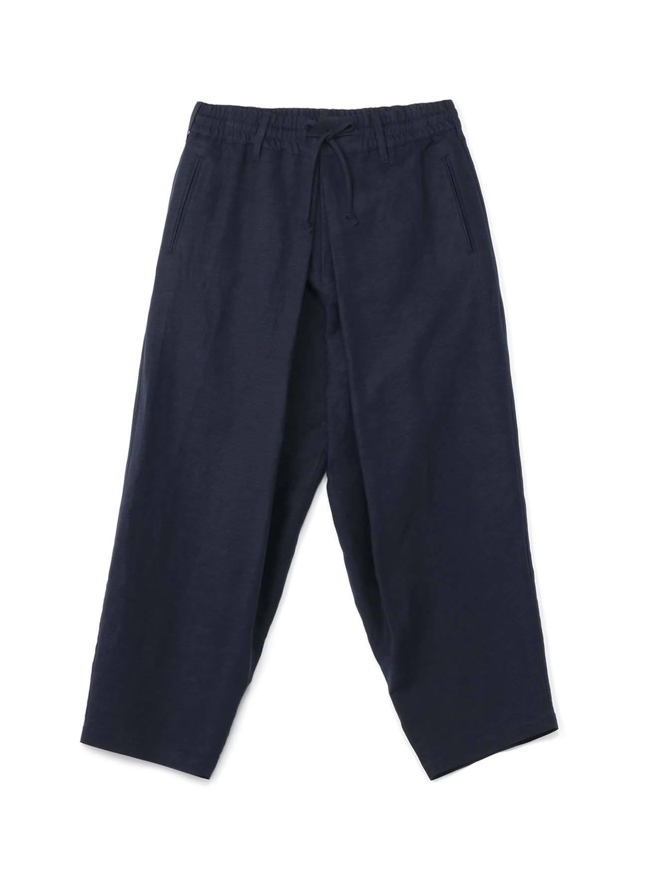 Rayon Linen Easy Cross・B Center Wide Tack Pants