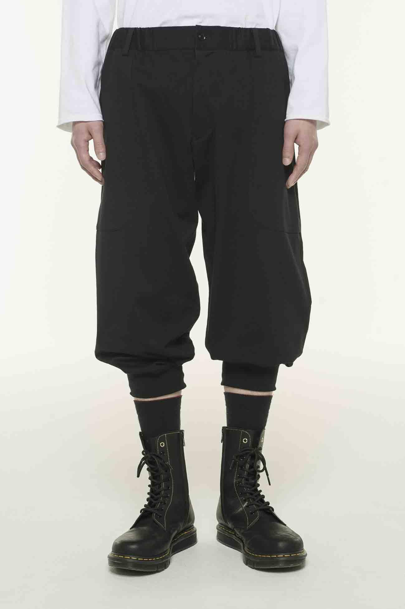 40/2 Cotton Jersey Cropped Ribu Length Free Pants
