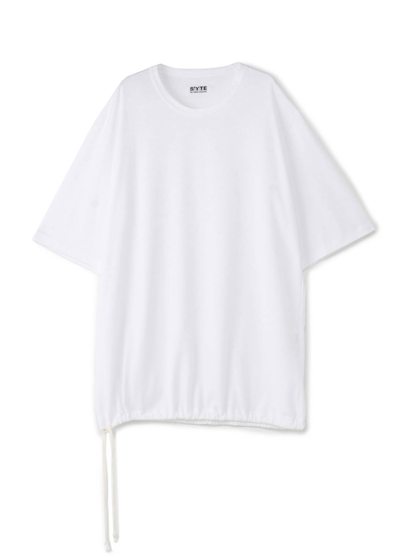40/2Cotton Jersey Crew Drawstring Balloon Big T-shirt