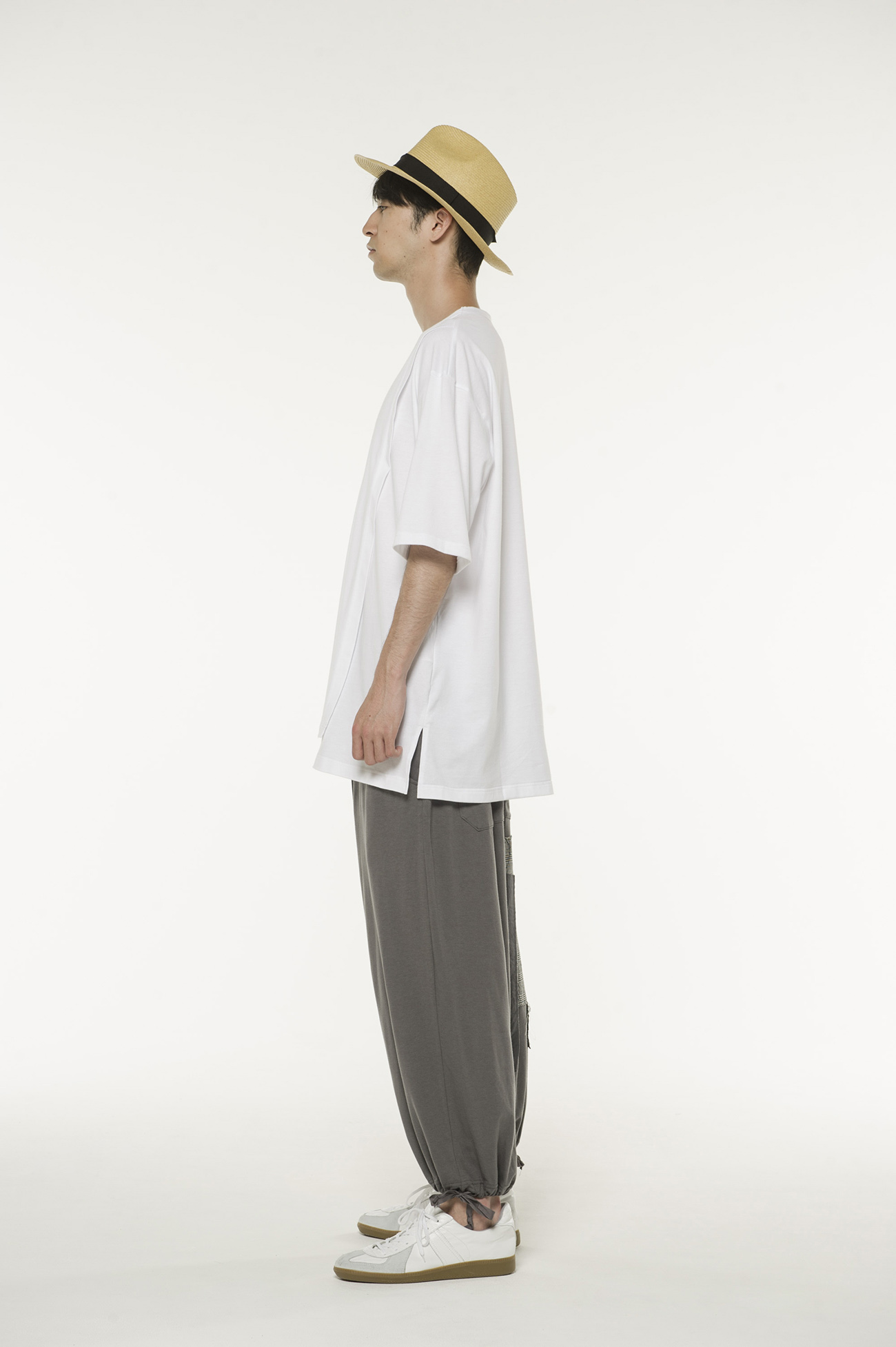40/2Cotton Jersey Crew Neck Half-Layered T-shirt