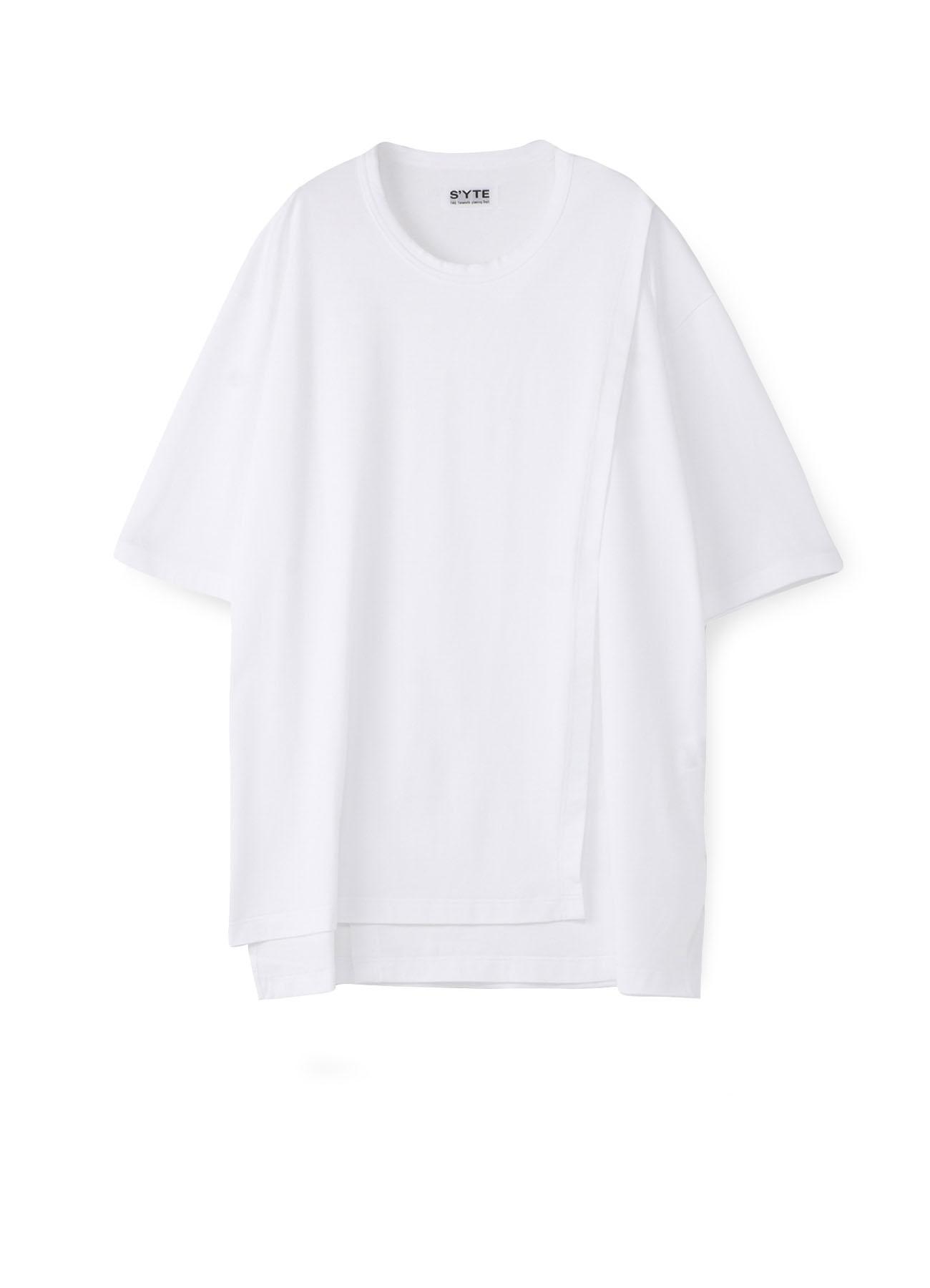 40/2Cotton Jersey Crew Neck Half-Layered T-shirt