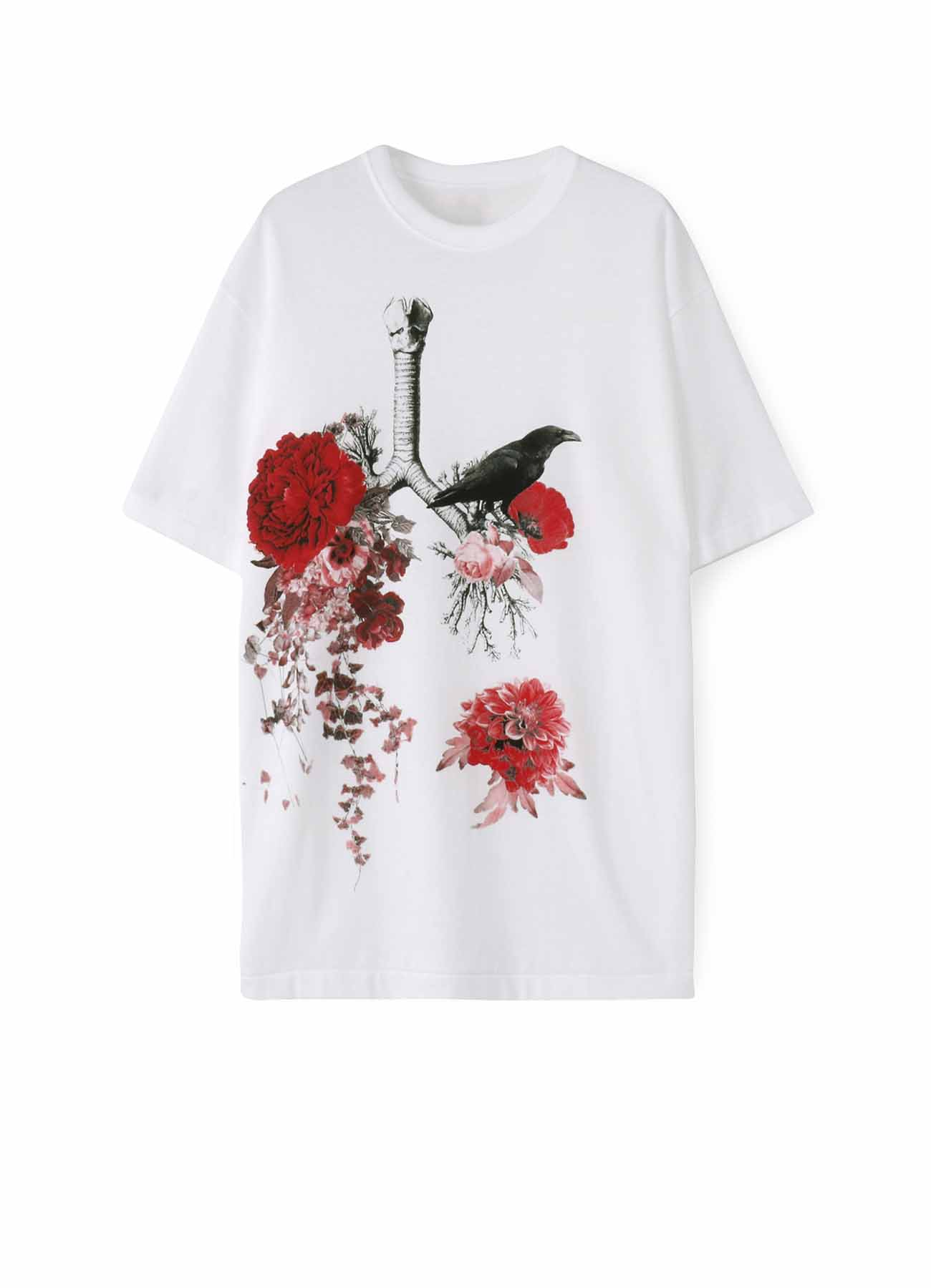 20/CottonJersey Crow on Lungs and Flowers