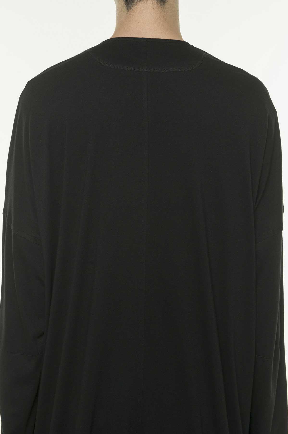混纺V领长款开衫