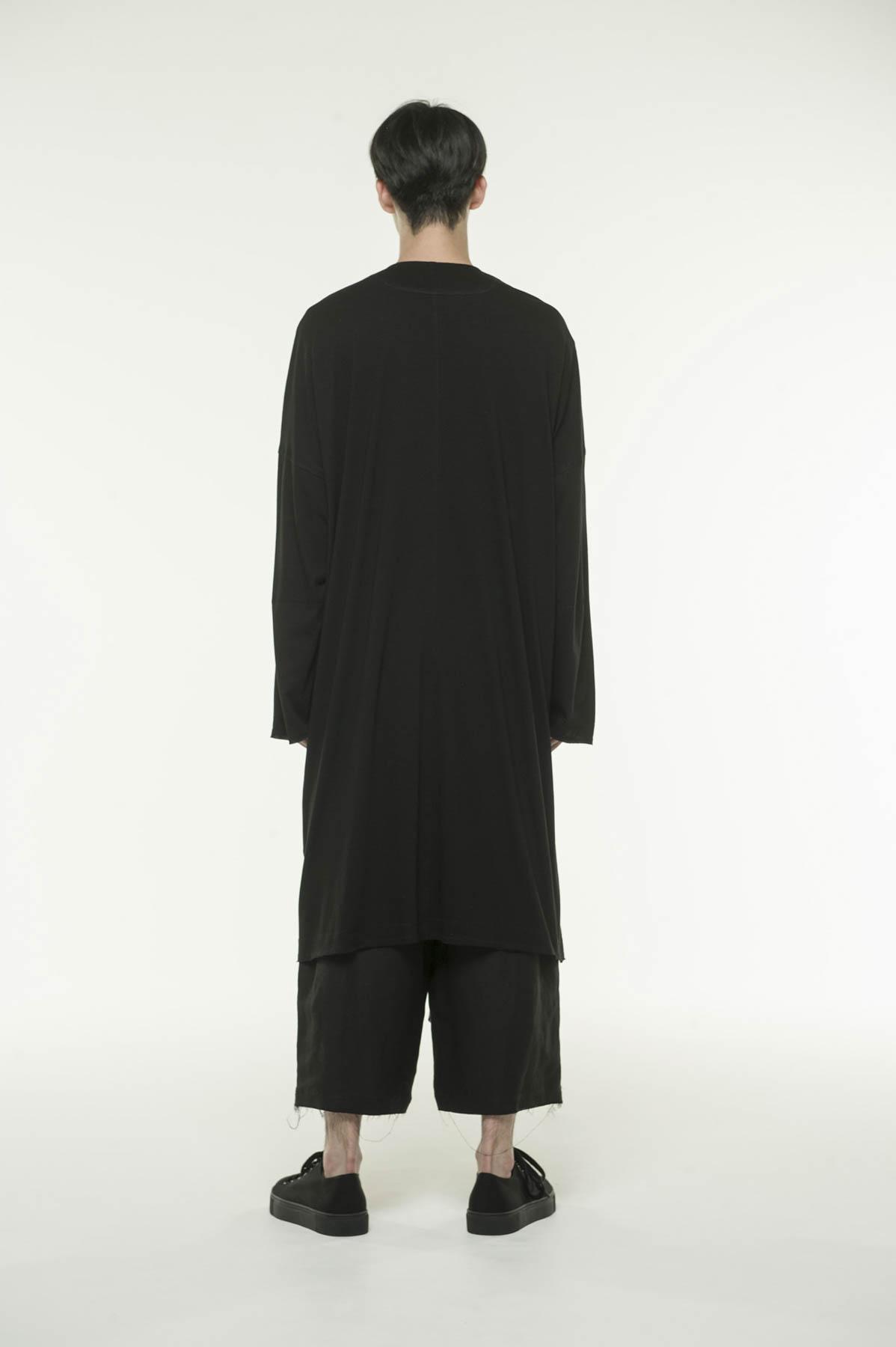 Cotton Lyocell Jersey V-neck Long Coat Cardigan