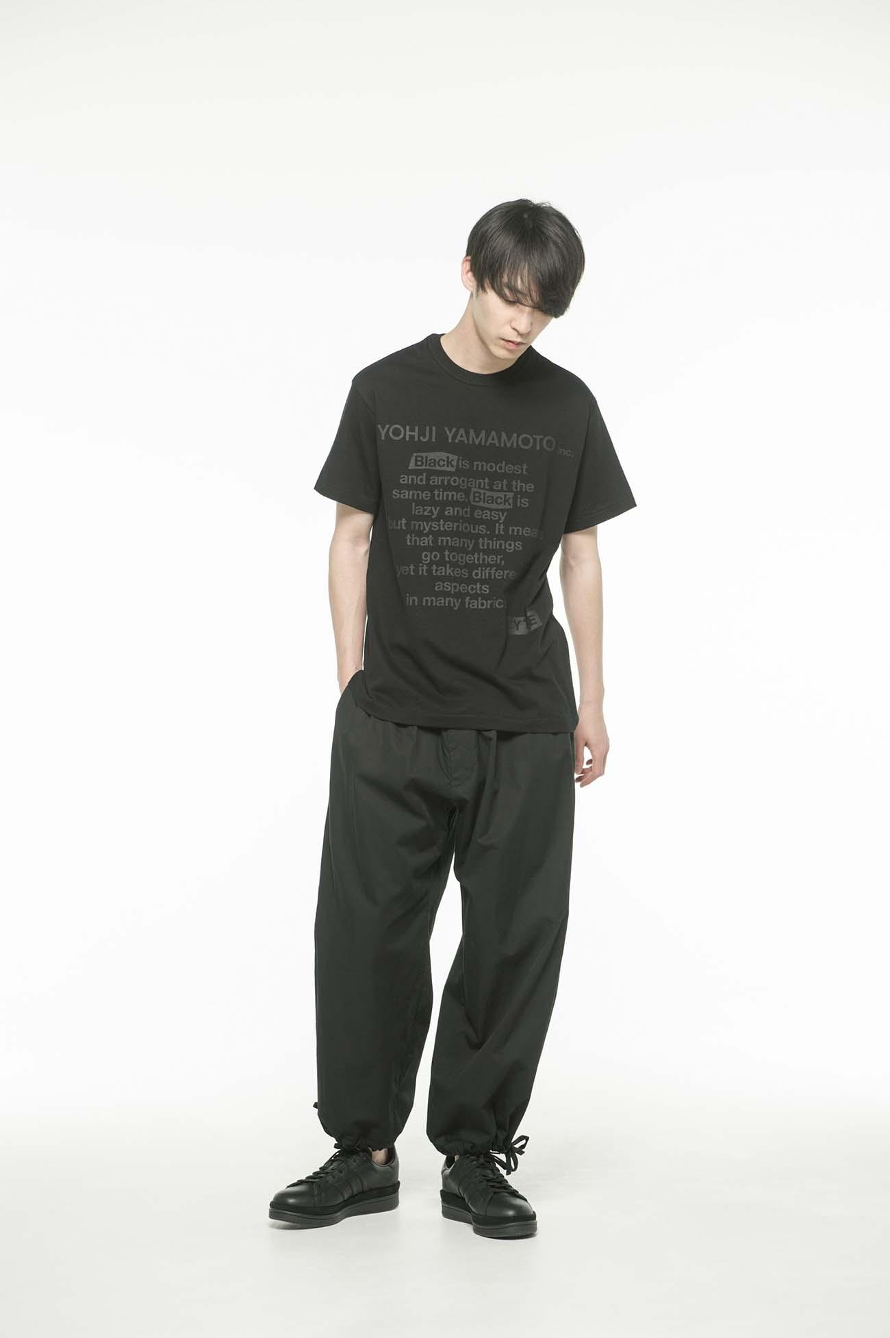 20/CottonJersey「Black Is Modest」Message T-Shirt