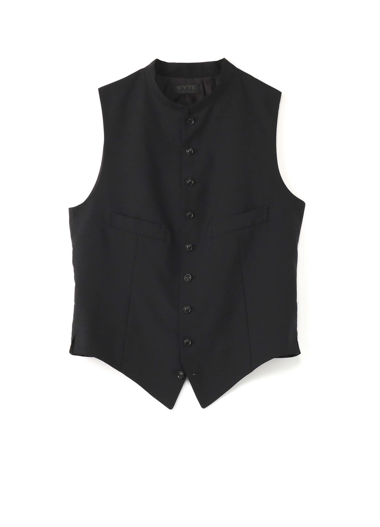 Wool Tropical Stand Collar Vest