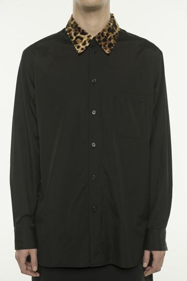 豹纹领口衬衫