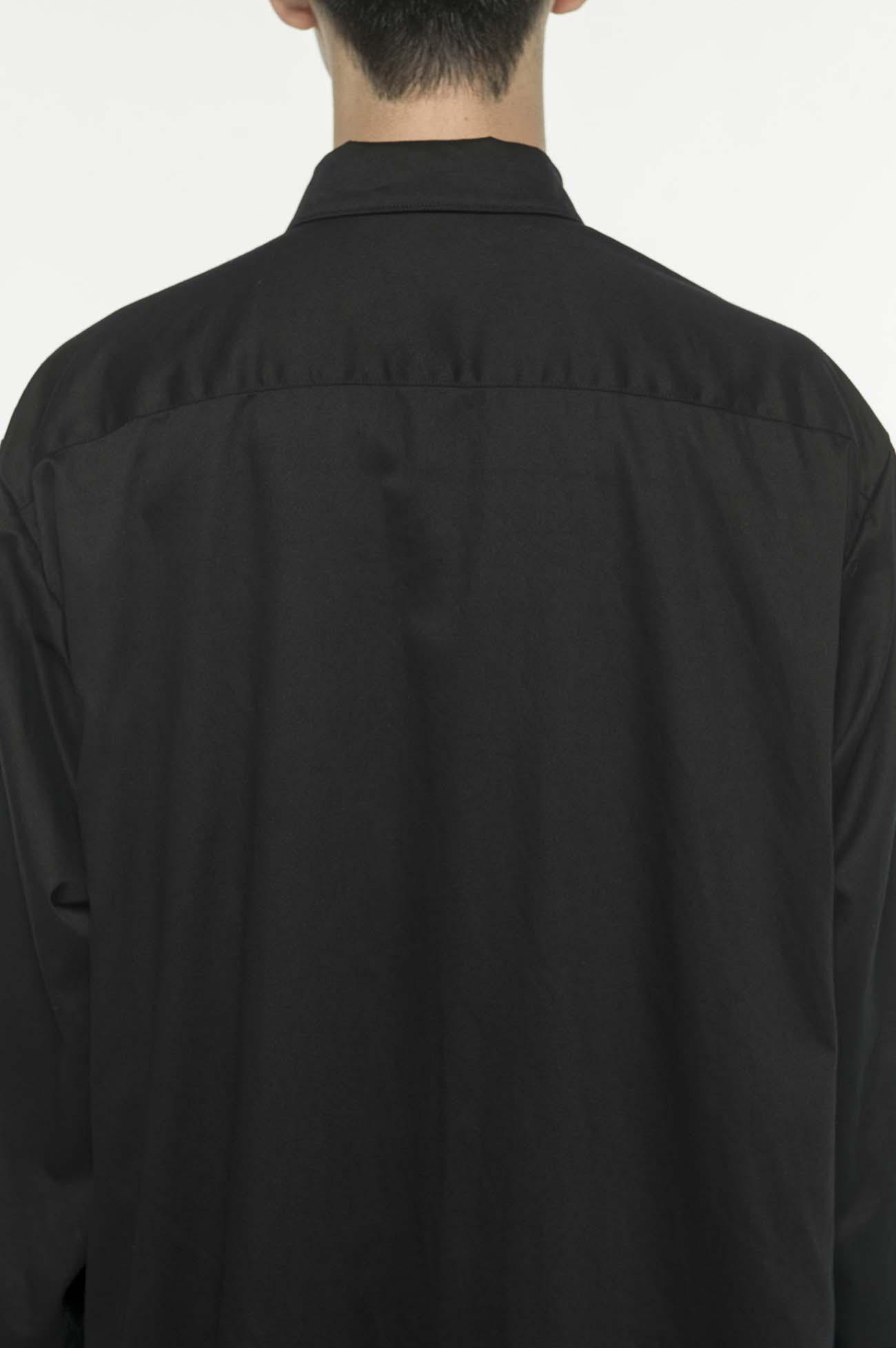 斜纹叠穿风长款衬衫