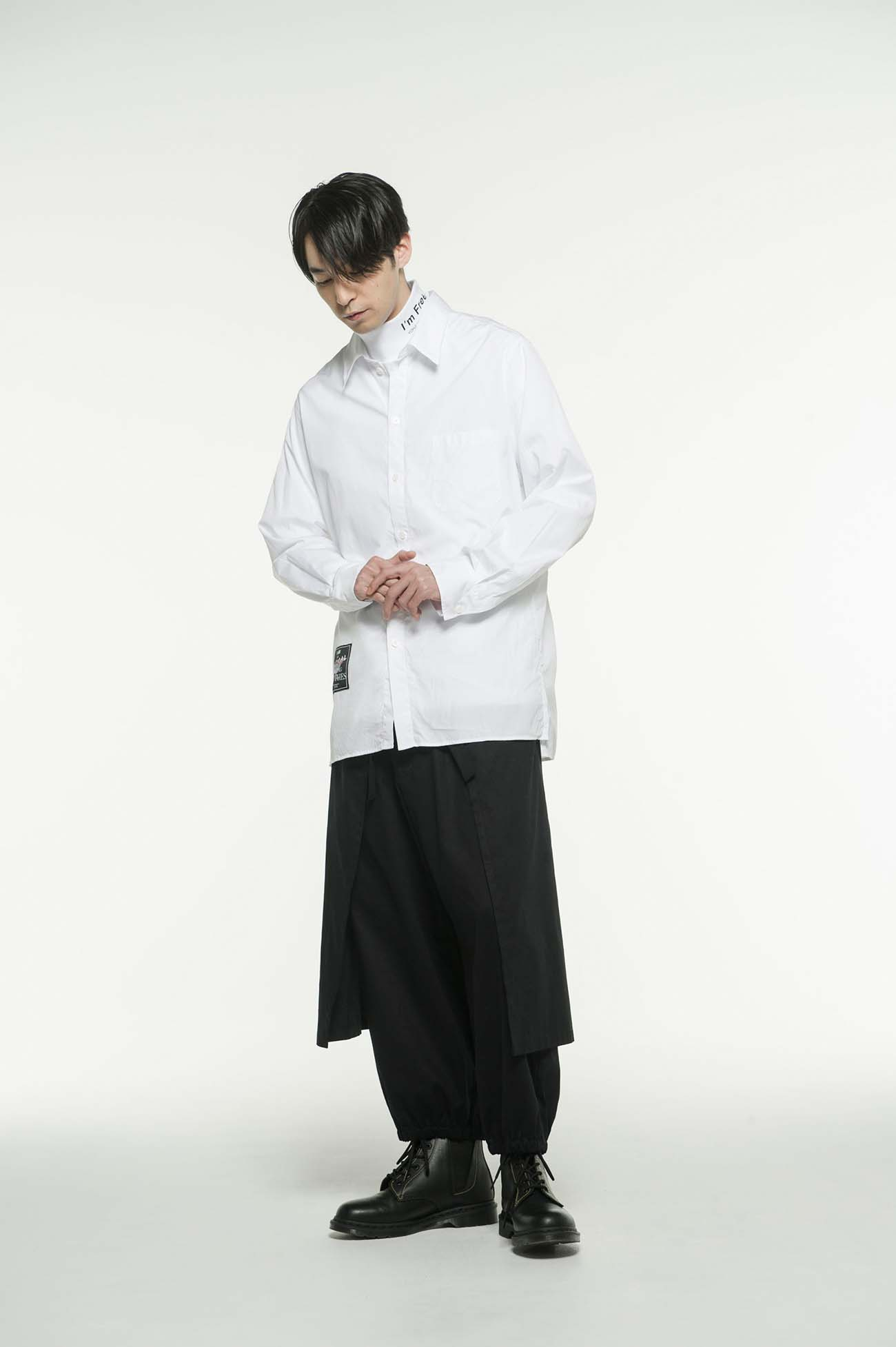 100/2 Broad 「I am an animal making clothes.」 Regular Collar Shirt