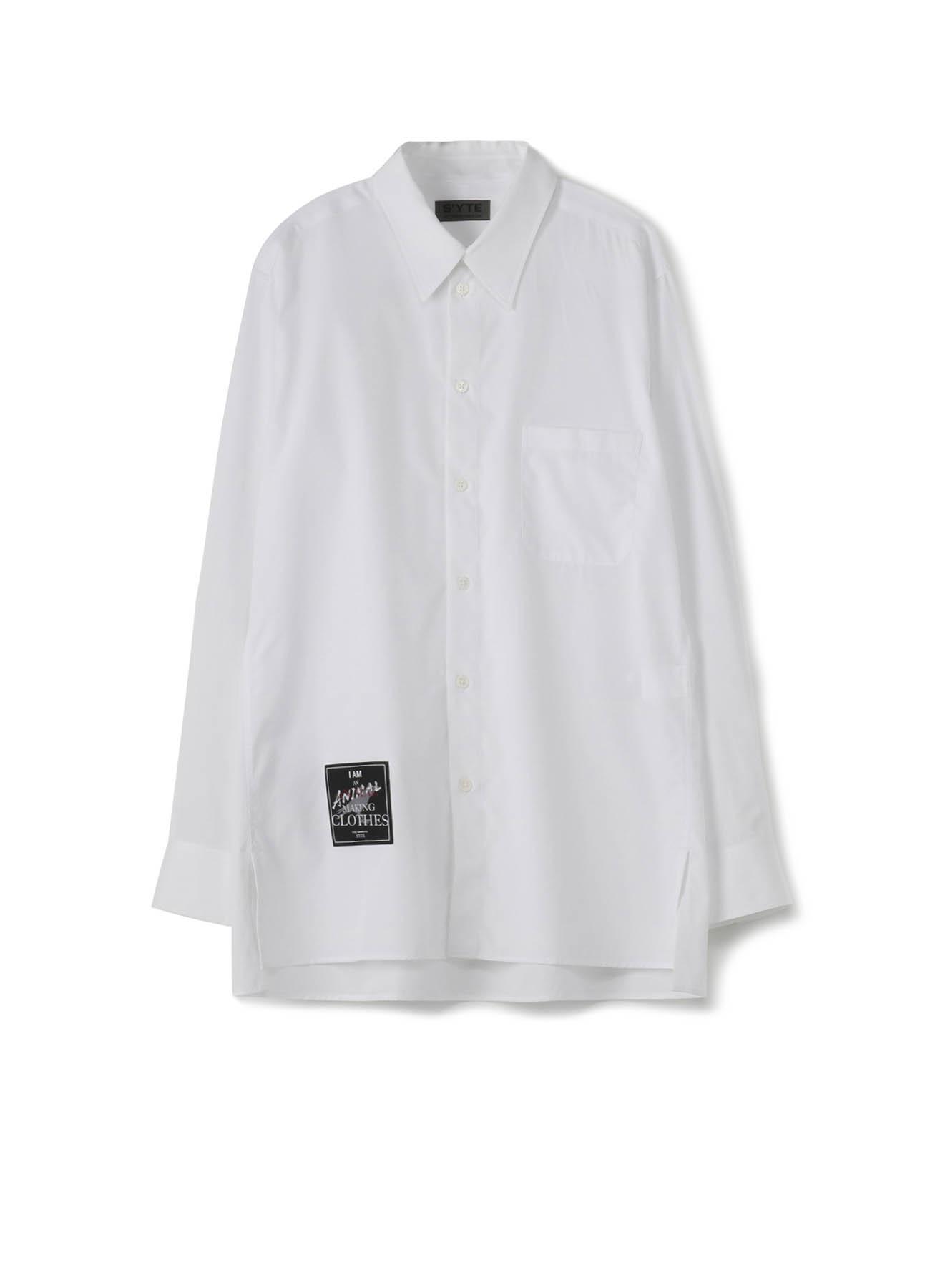 100/2 Broad 「I am an animal making clothes.」 Regular Collar Shirt