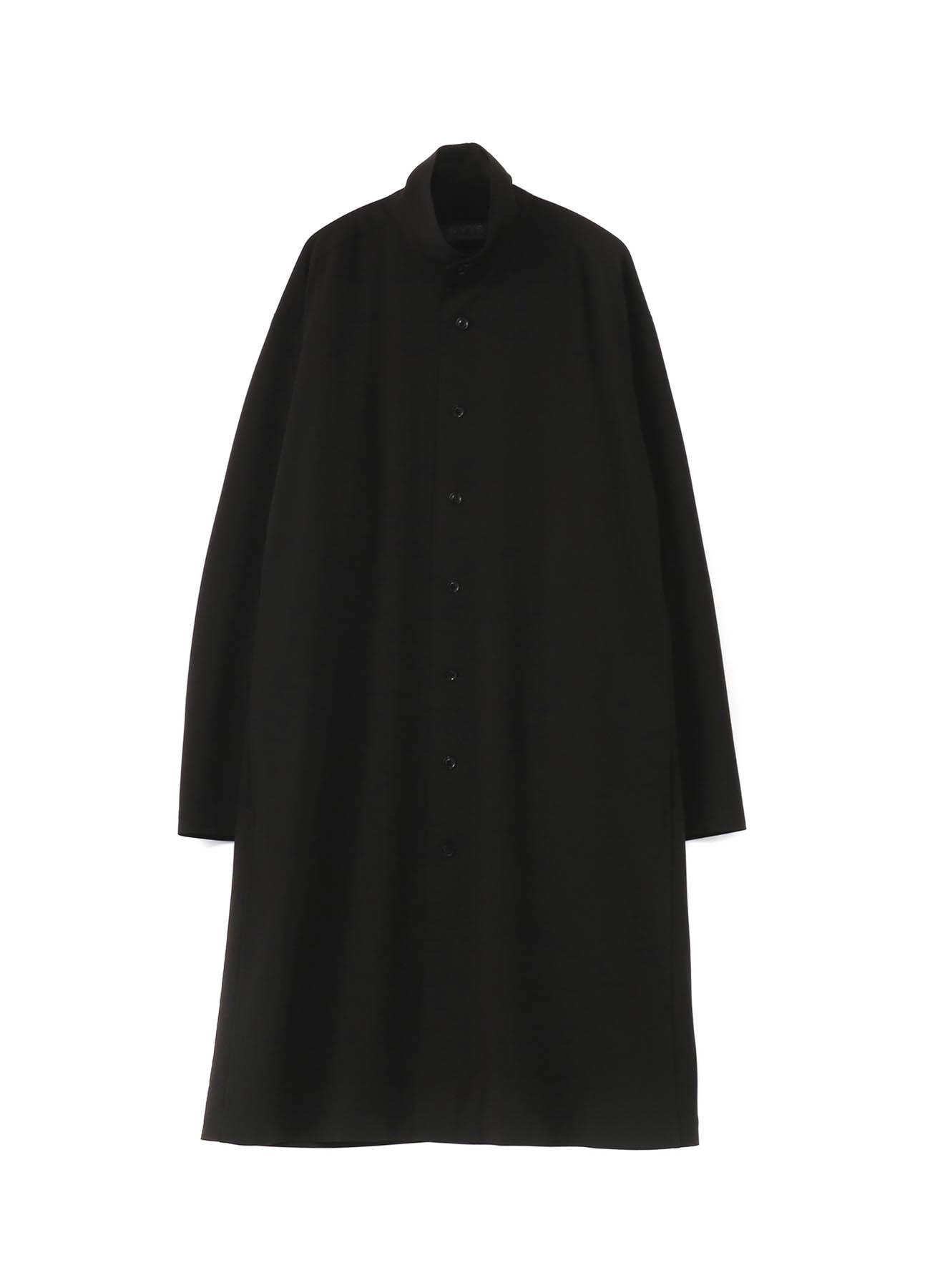 Pe/Rayon Gabardine Stretc Stand Collar Shirt Coat
