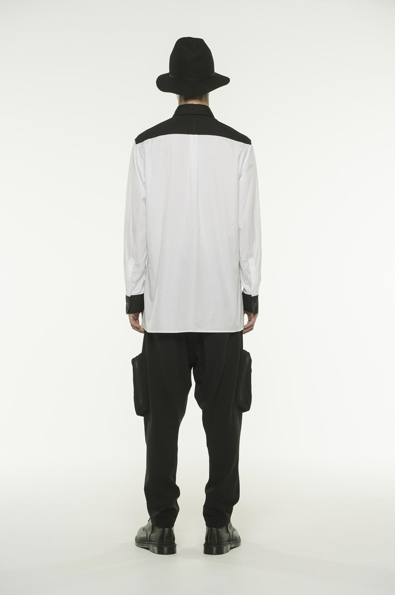 100/2 Broad Regular Collar Two-tone Panel Shirt