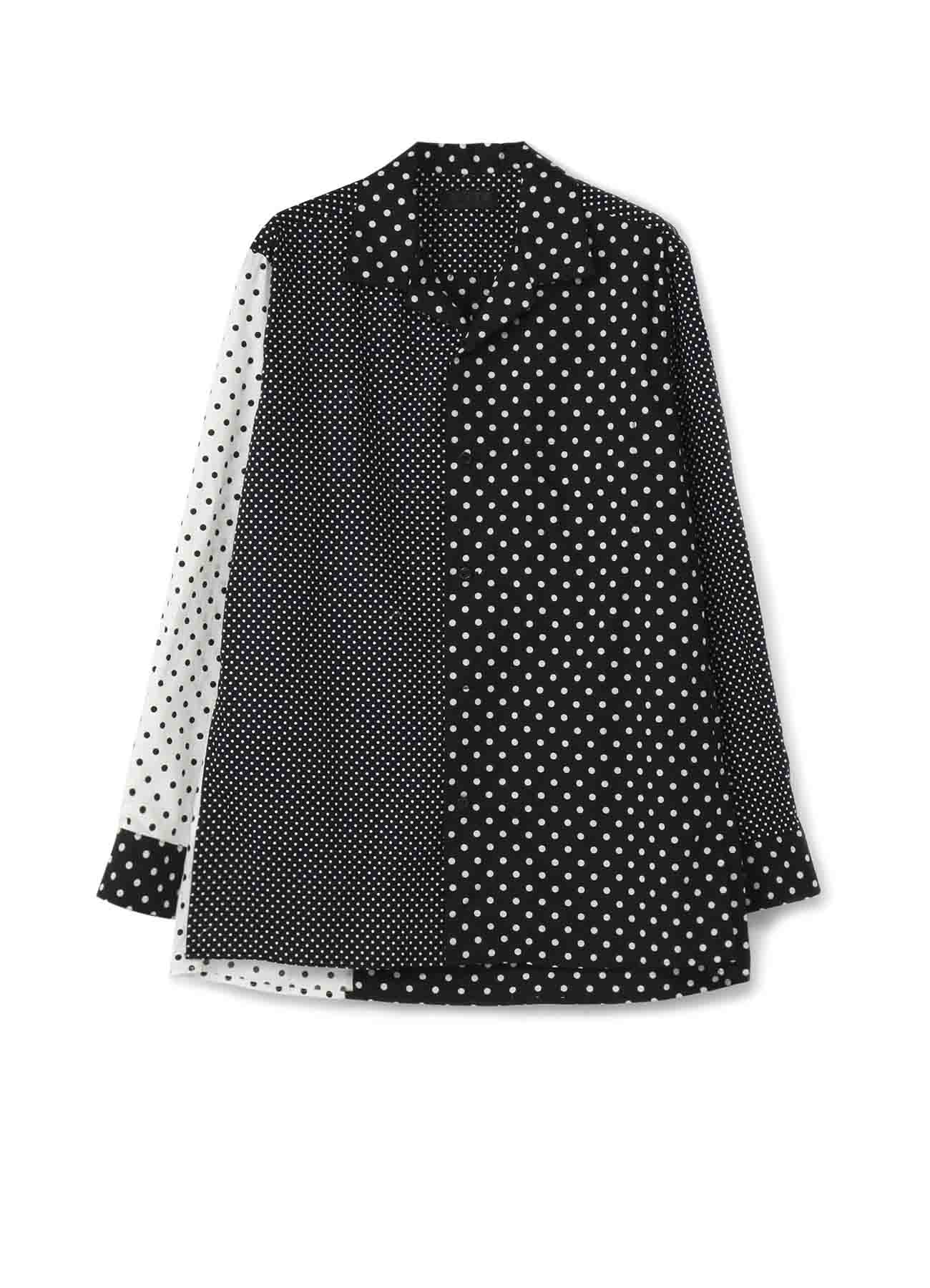 Dot Crazy Panel Open Collar Shirt