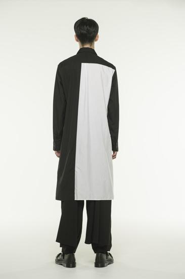 长款黑白衬衫