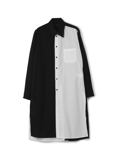100/2 Broad Regular Two-tone Panel Long Shirt