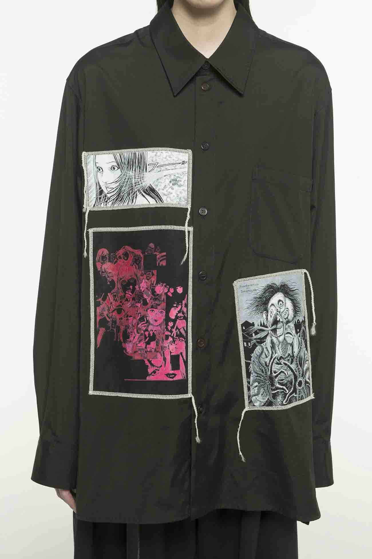 100/1 Broad Junji Ito「Best of Best」Printed Patch Shirt