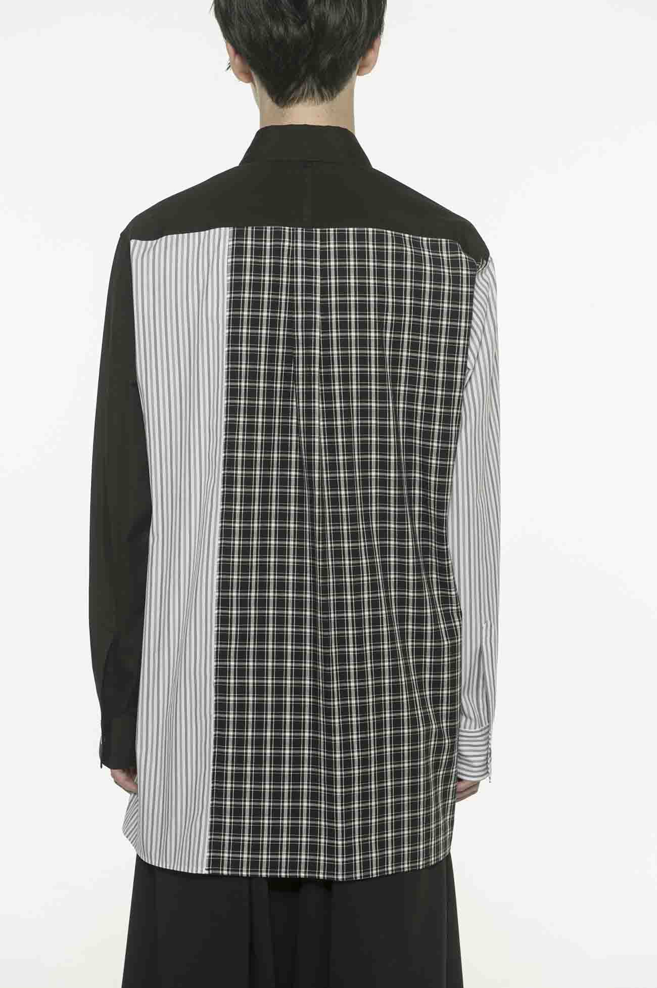 Broad Check Stripe Crazy Panel Message Print