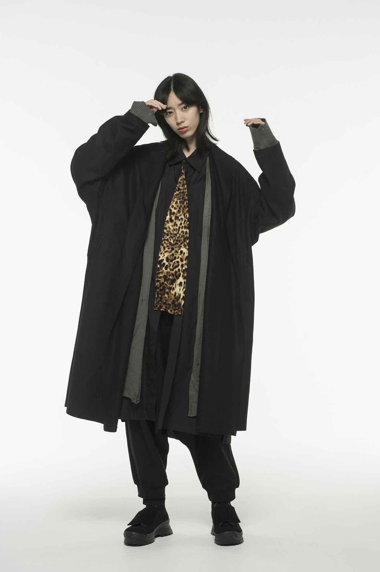 Compression Wool Shawl Collar Big Gown Coat