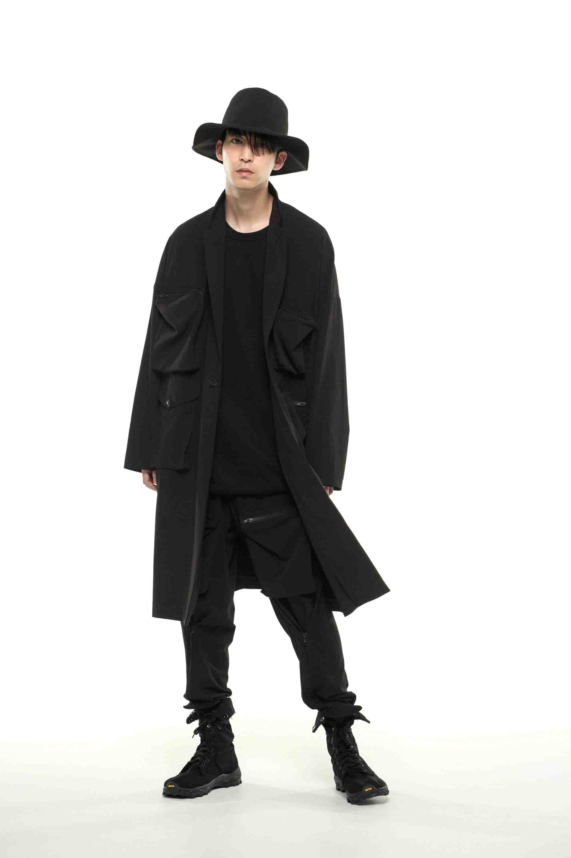 Pe/Rayon Gabardine Stretch Multi Pocket Big Chester Coat