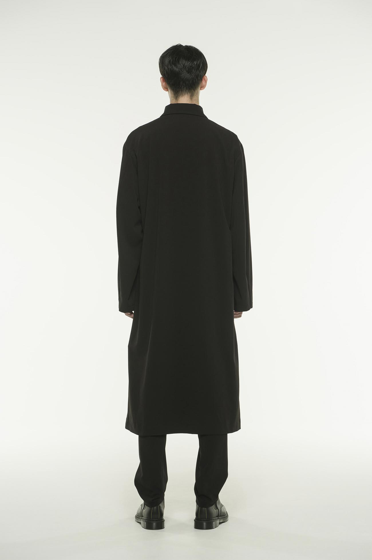 Pe/Rayon Gabardine Stretc Zipper Dress Coat