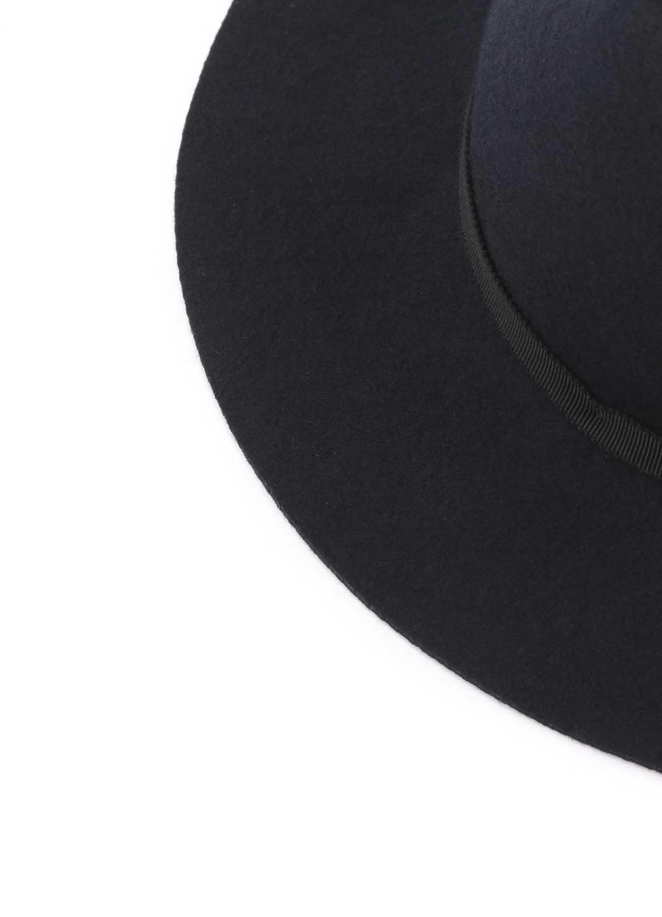 Wool Felt Short Brim Bowler Hat