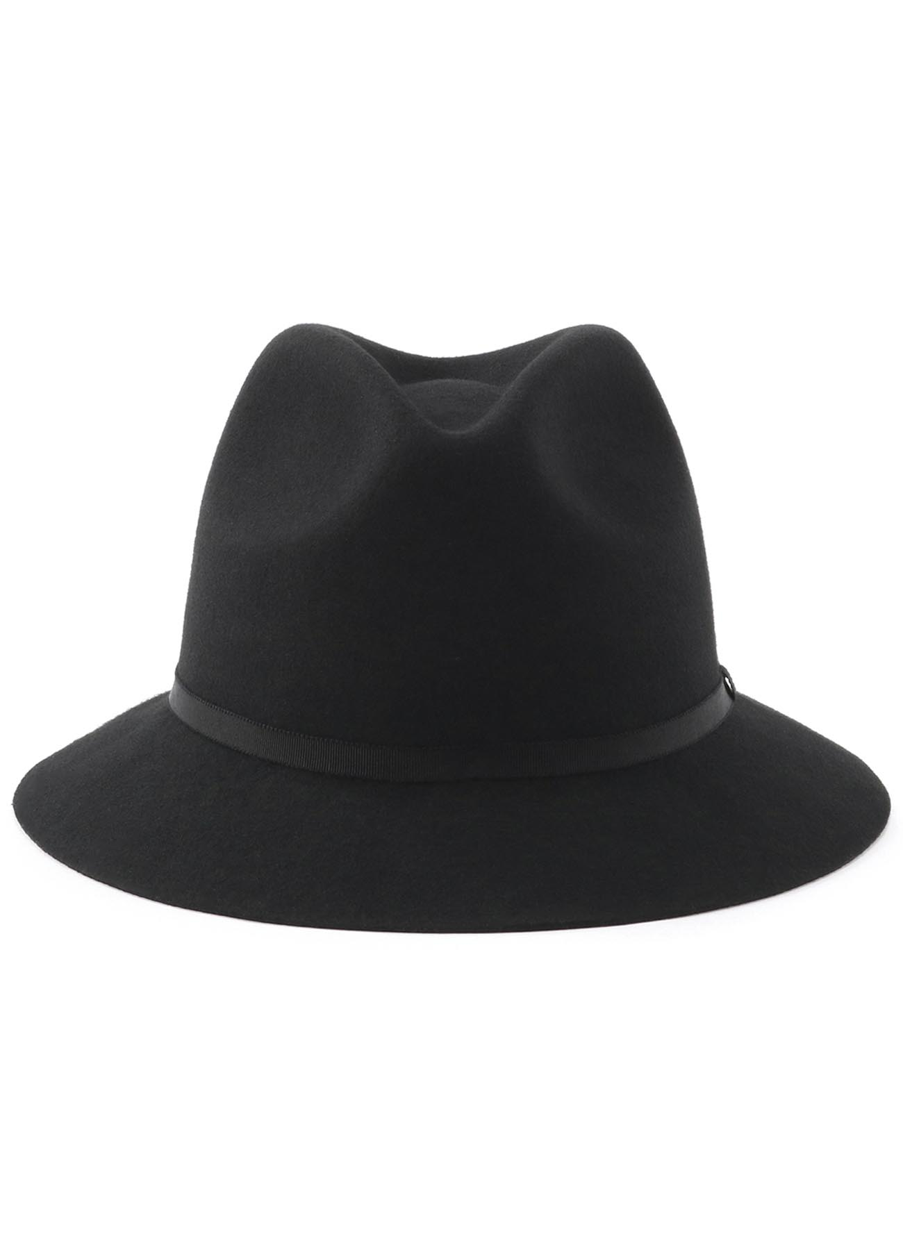 Wool Felt Short Brim Bowler Hat