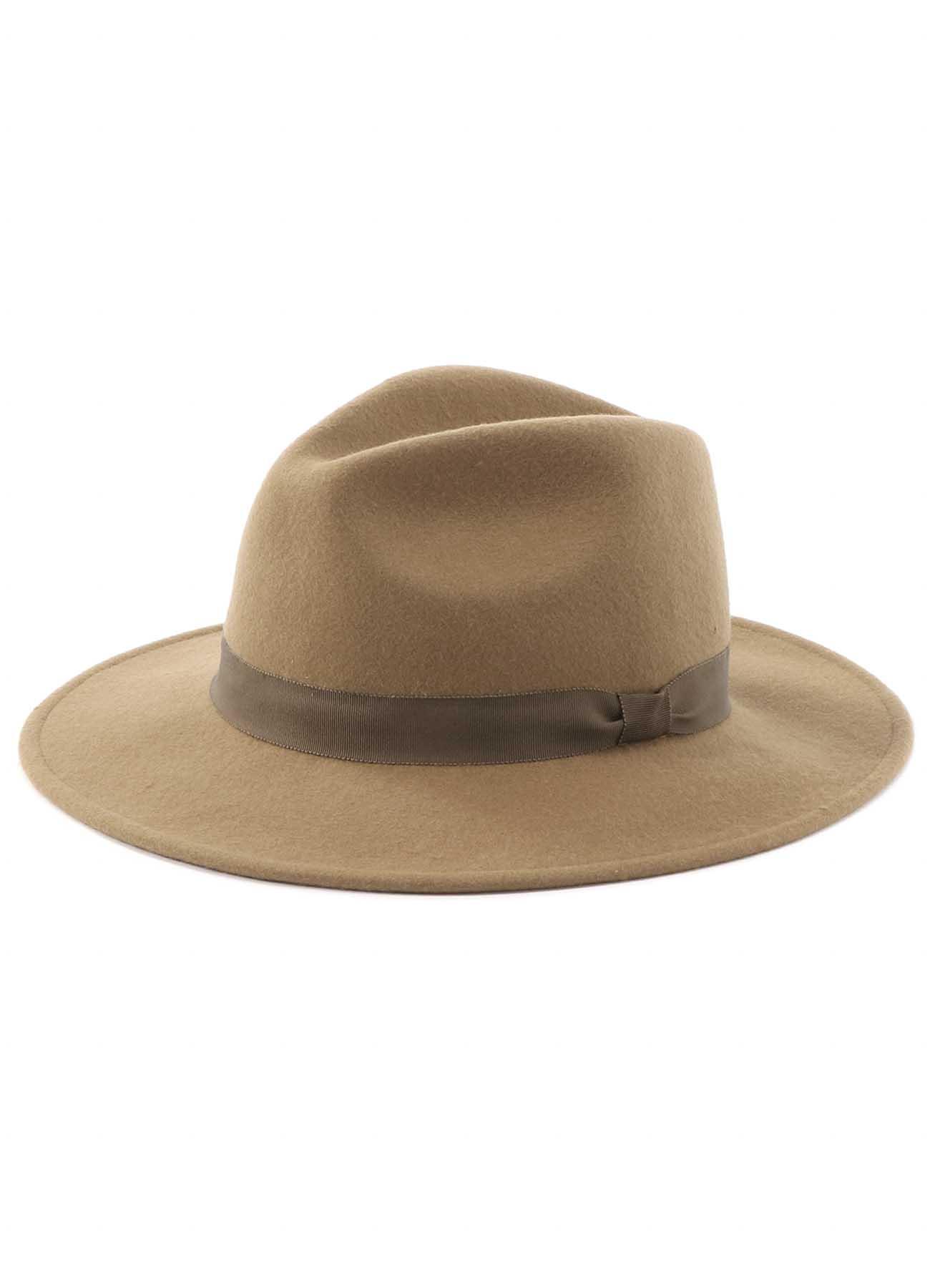 羊毛毡宽檐礼帽
