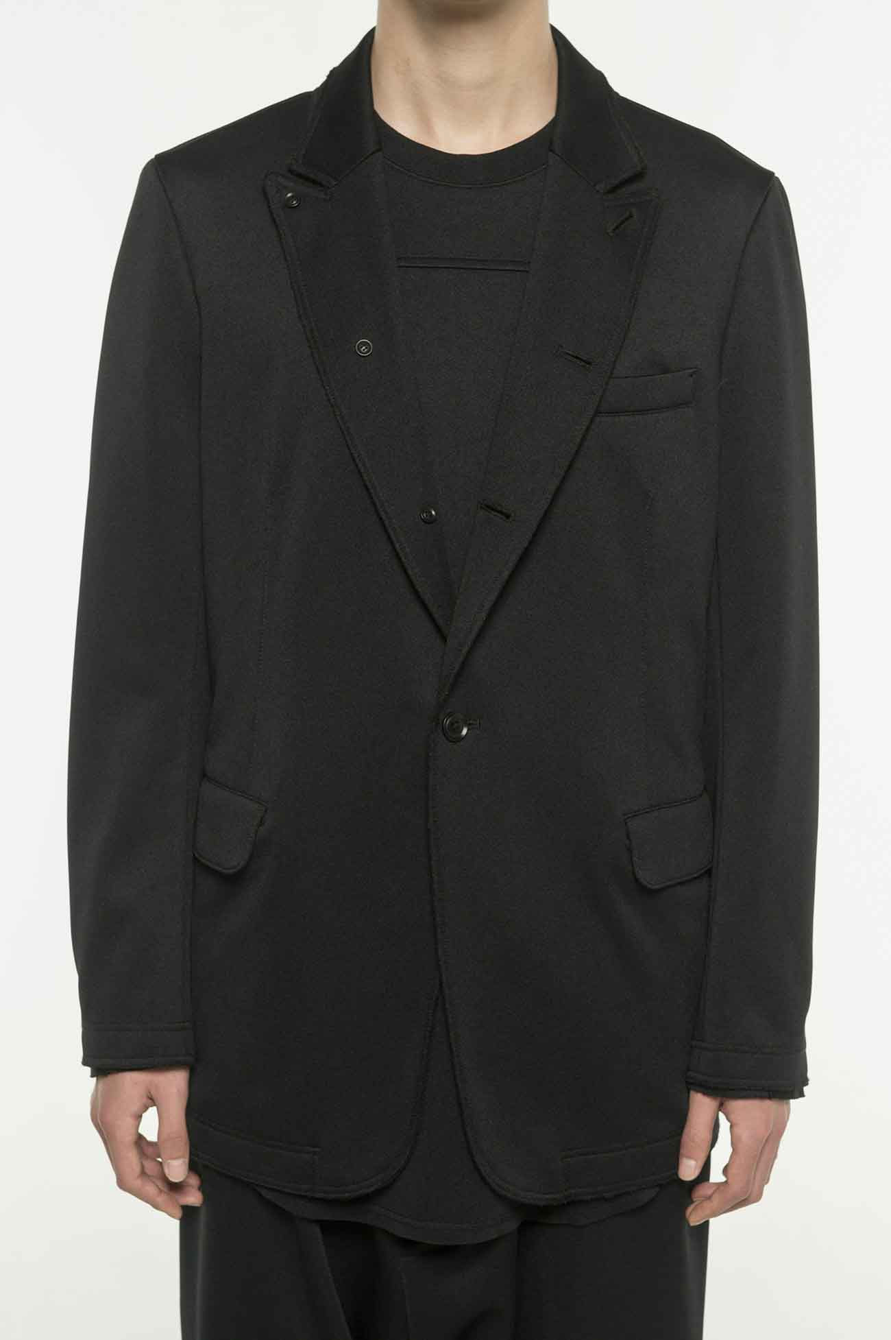Pe/Smooth Jersey Peak Lapel Jacket