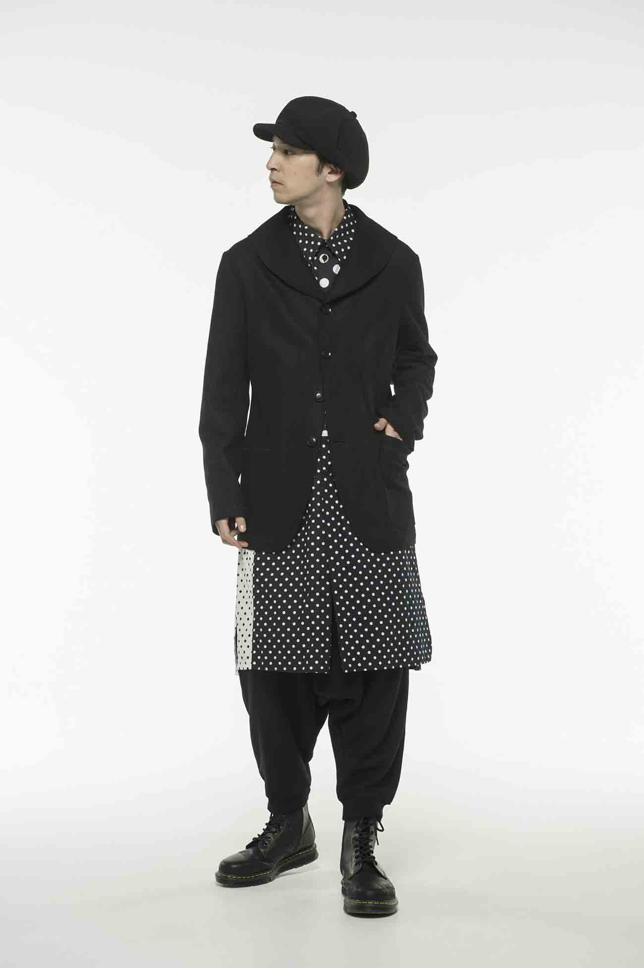 Compression Wool Shawl Collar Single P Coat