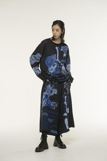 多种图案提花针织衫·蓝