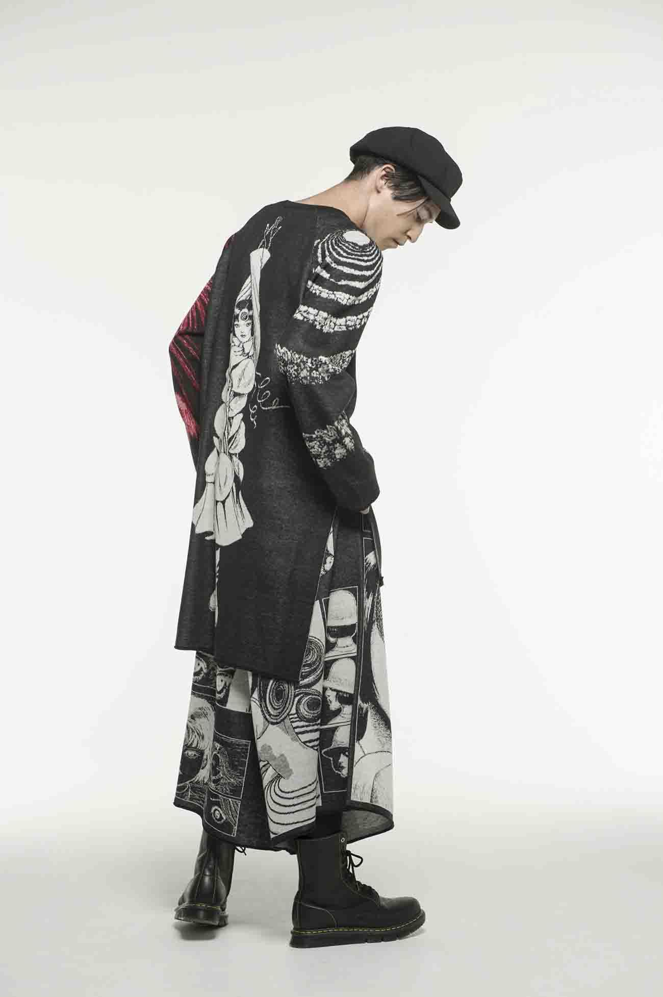 S'YTE × 伊藤润二ー长款针织衫