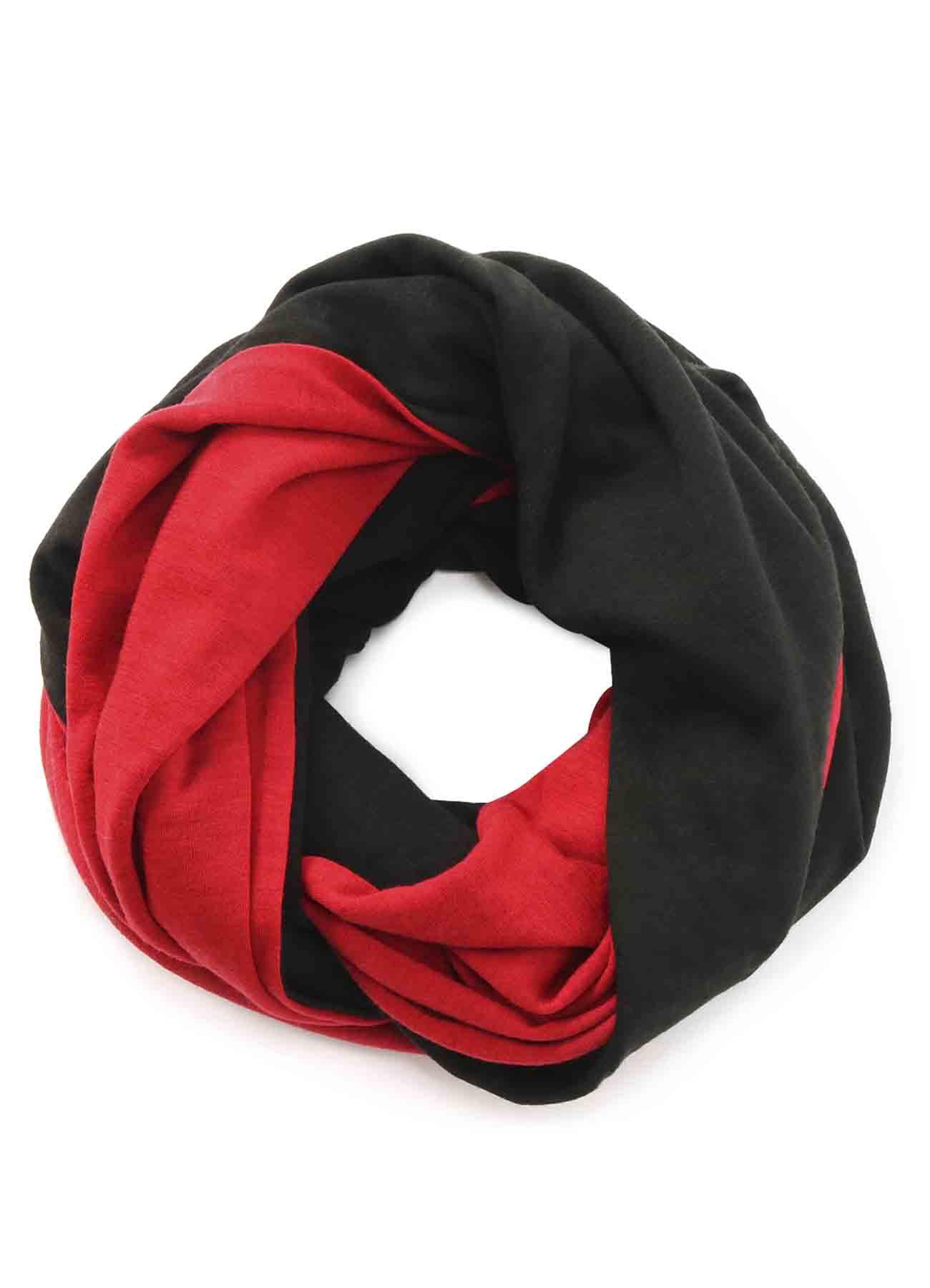 Wool Acrylic Jersey Big Snood × RED