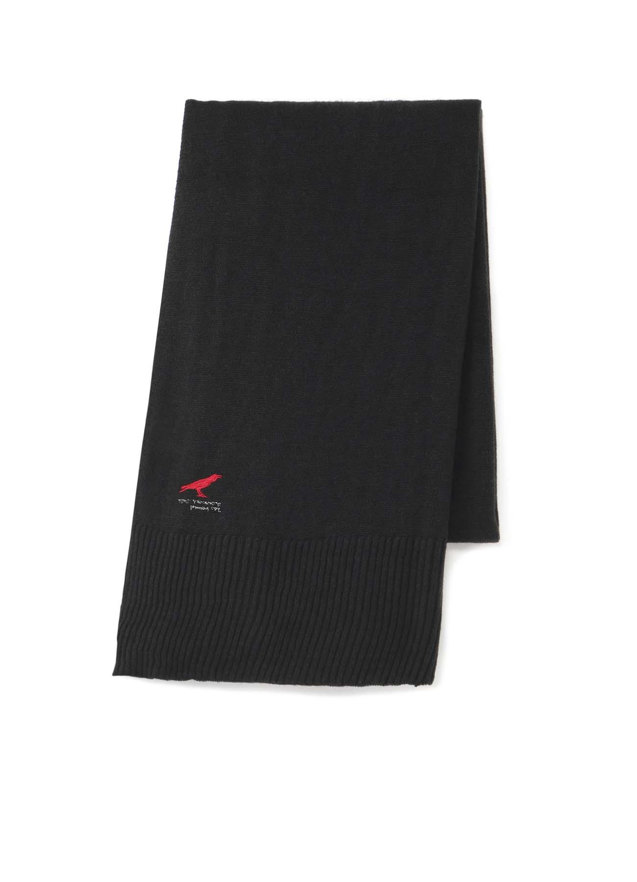 乌鸦刺绣针织披肩