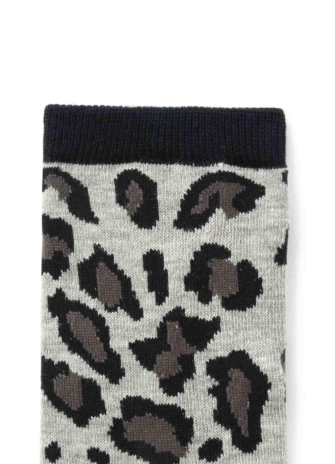 Cotton Plain Stitch Leopard Socks