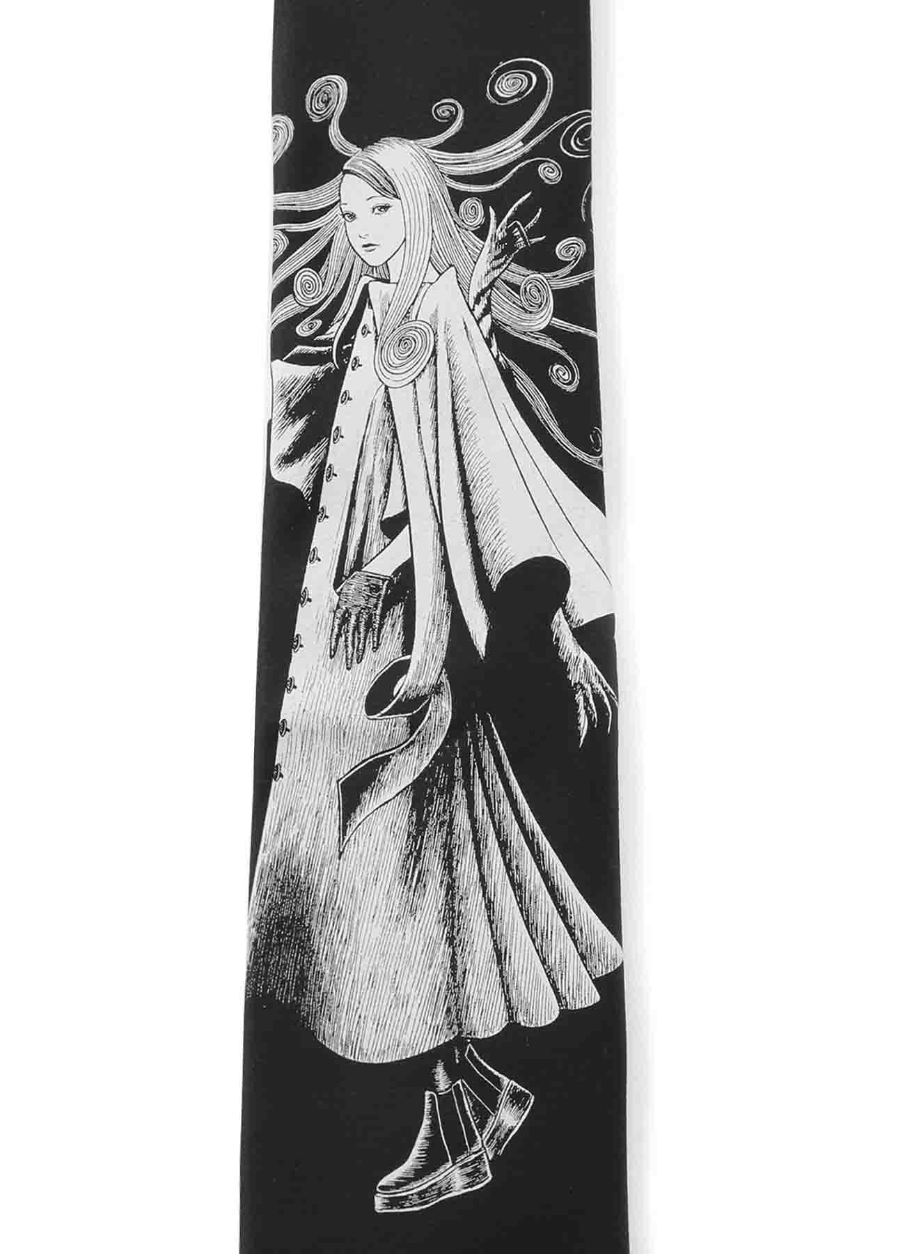 S'YTE × 伊藤润二-五岛桐绘 in YOHJI YAMAMOTO 真丝领带