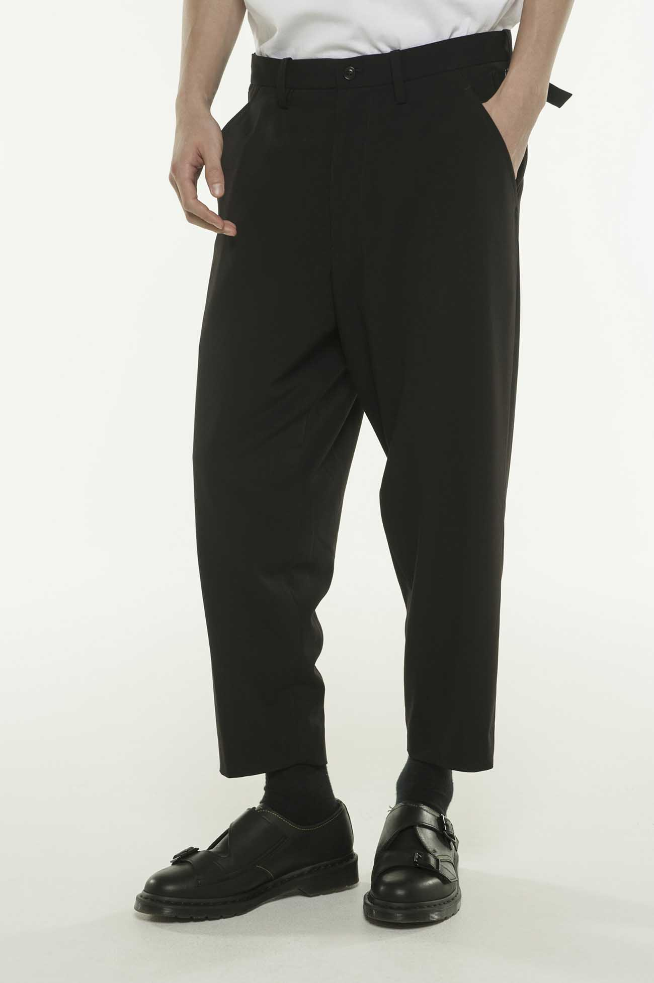 Pe/Rayon Gabardine Stretc Tapered Waist Adjustment Pants