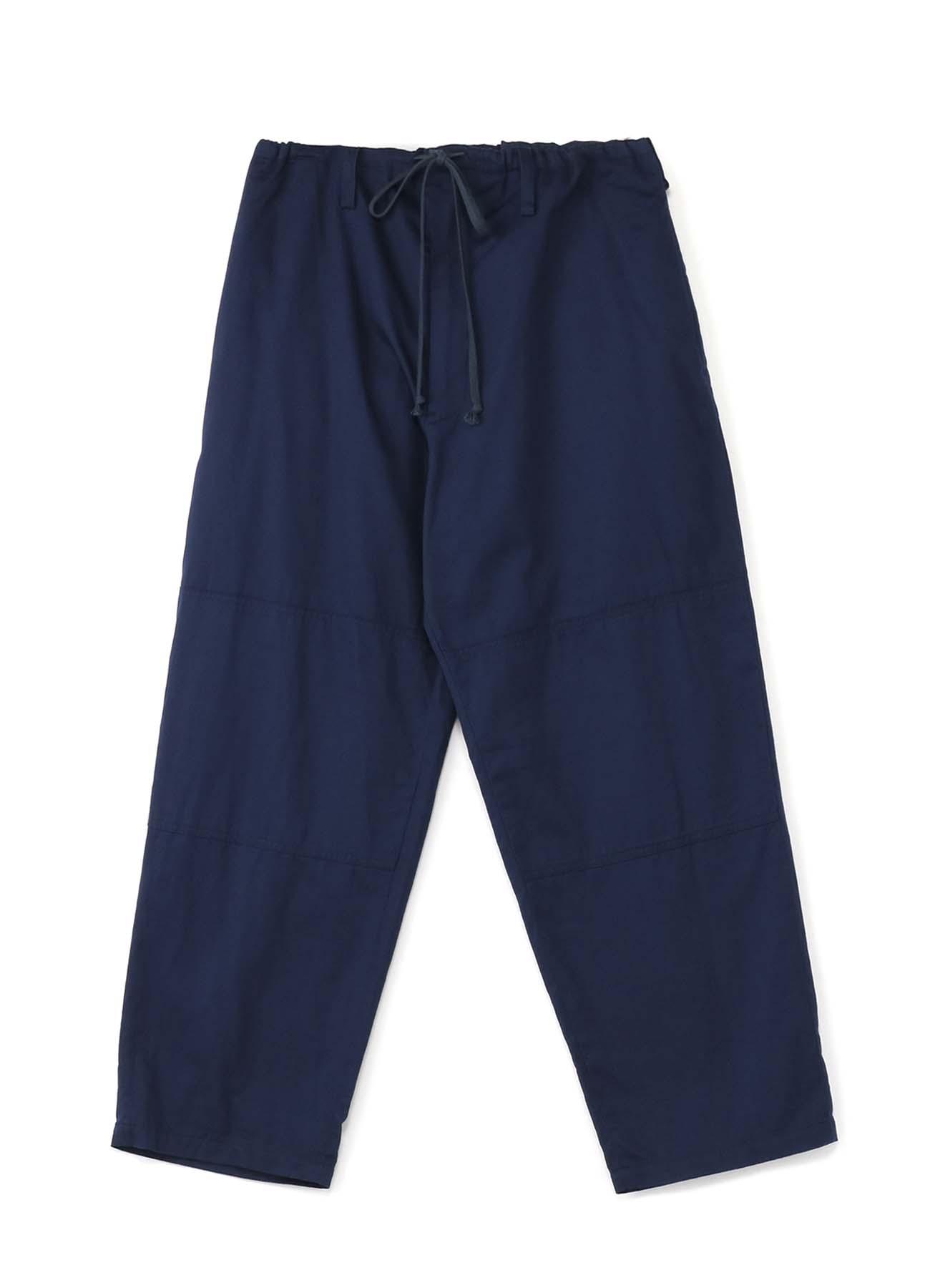 斜纹抽绳长裤