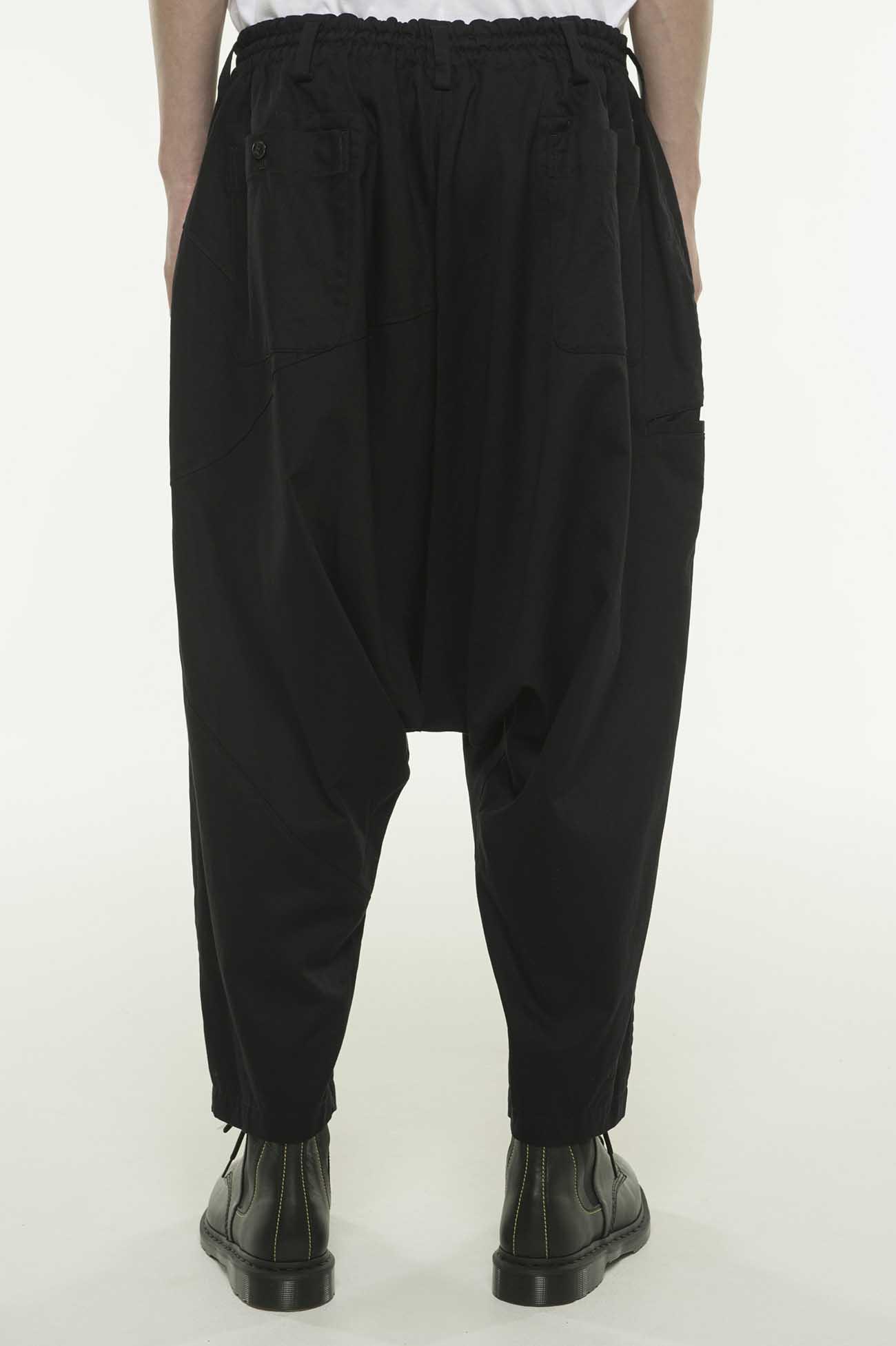 20/Cotton Twill Geometry Switching Sarouel Pants