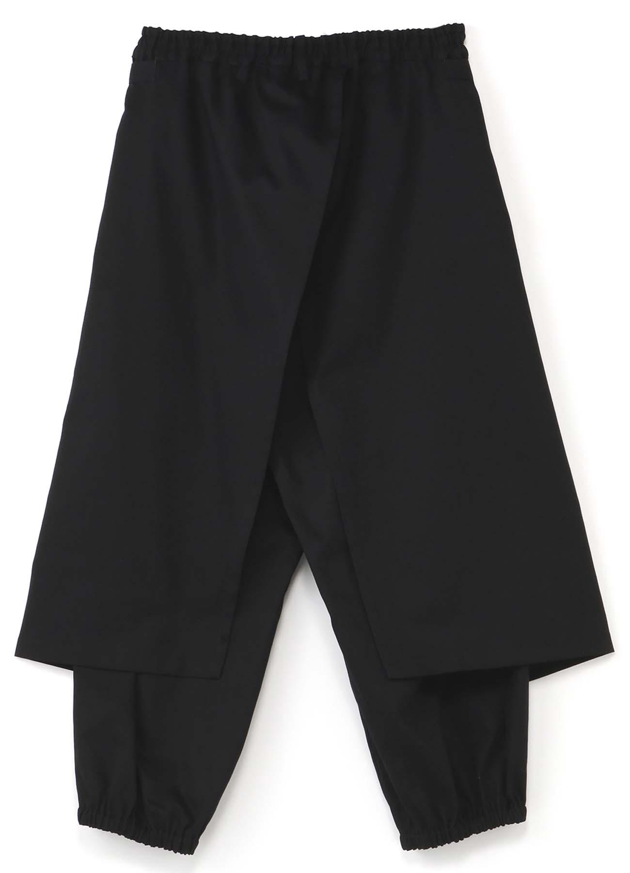 围裙叠穿风抽绳灯笼裤
