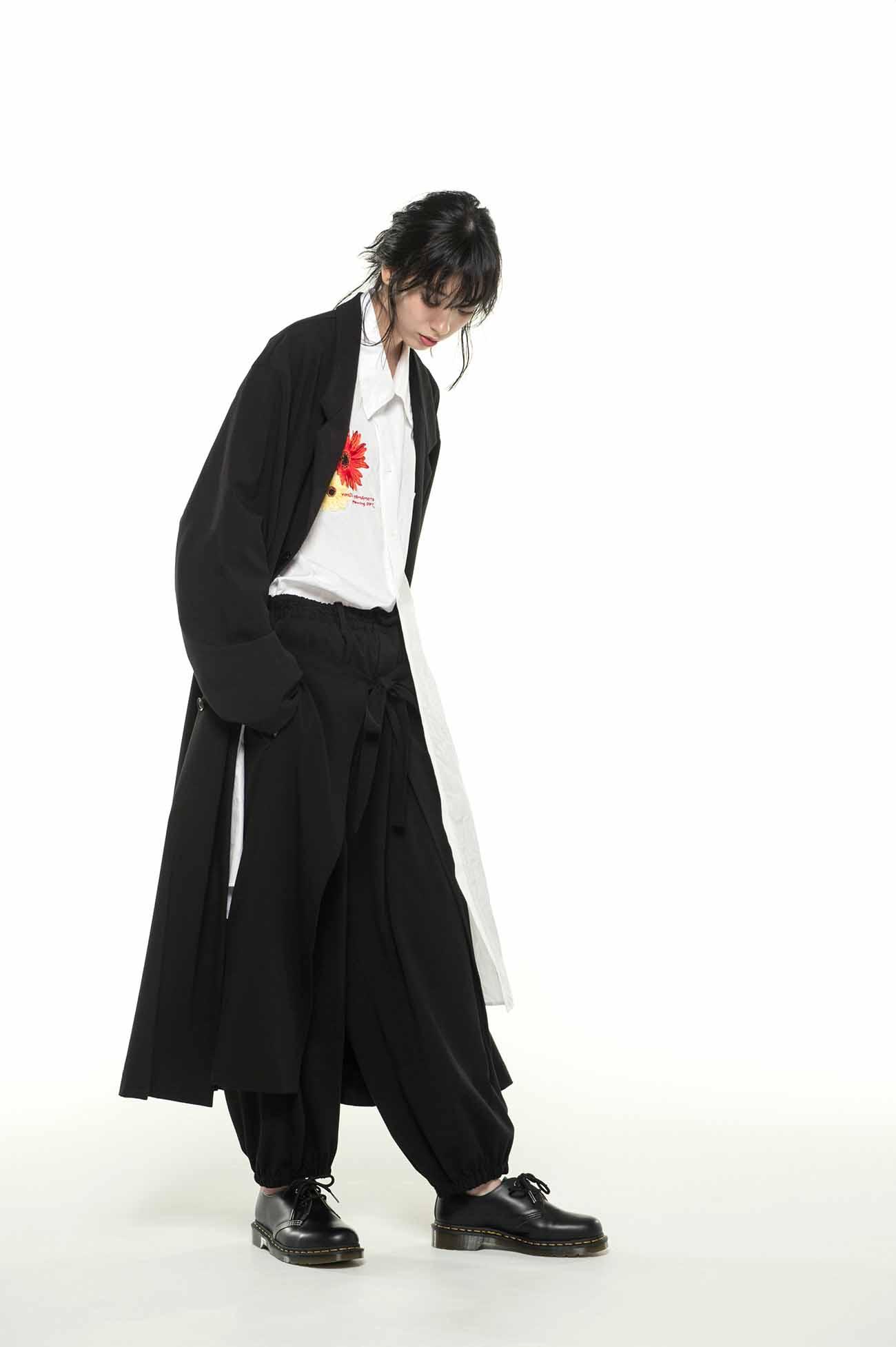 人造丝卷裹灯笼裤