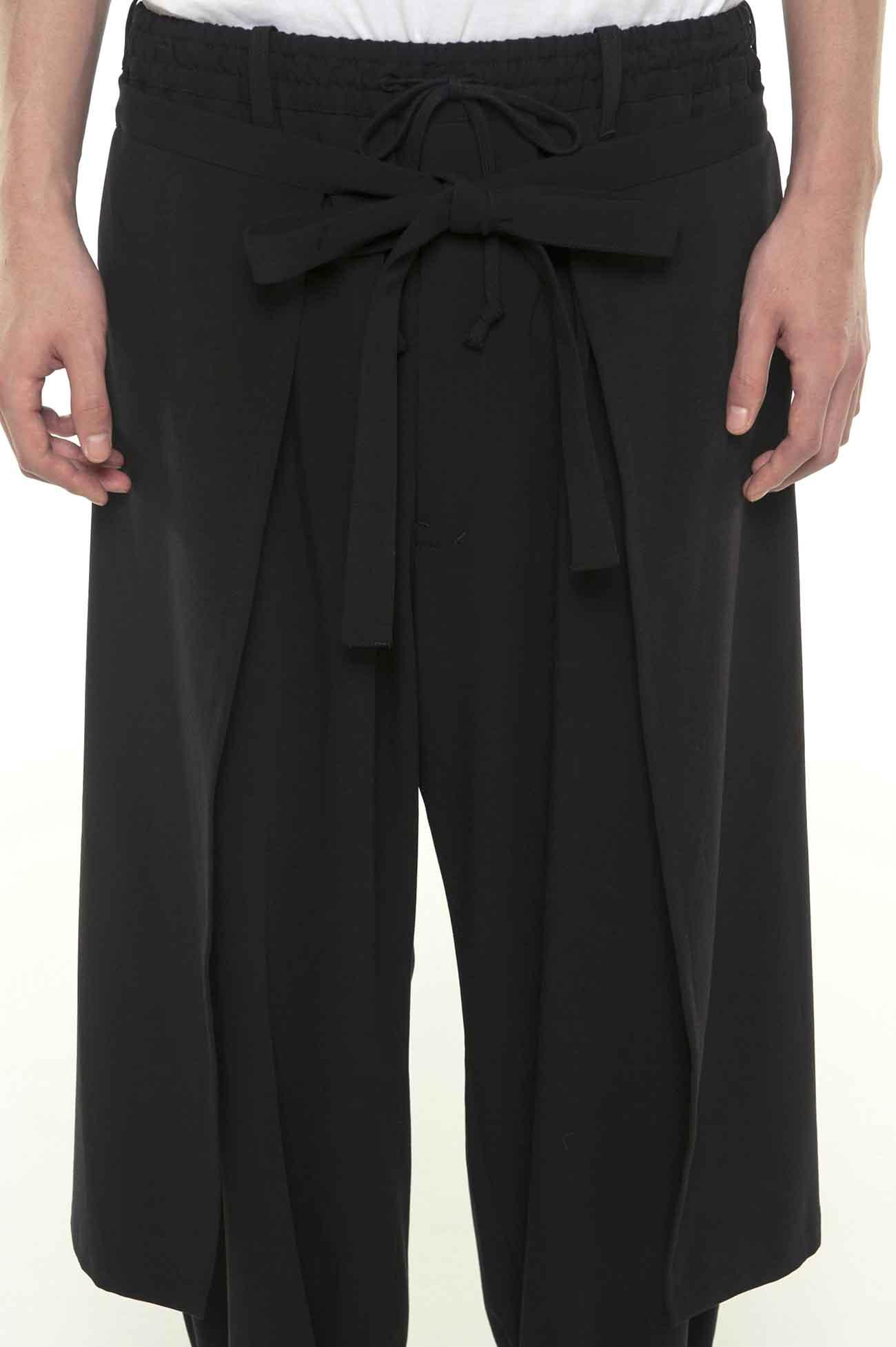 Pe/Rayon Gabardine Stretc Hem Both Sides Wrap Pants