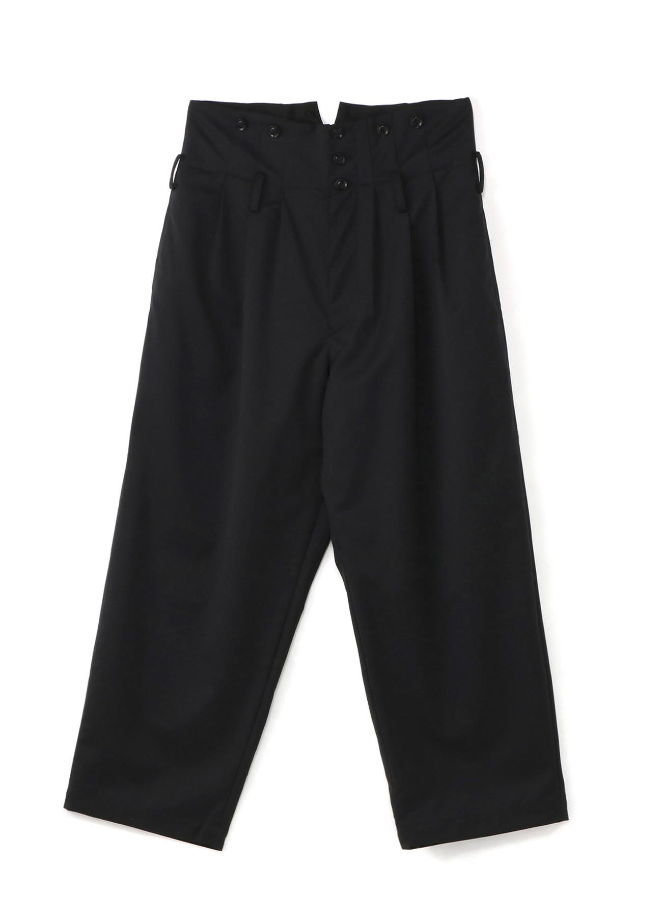 T/W Twill 3Tuck High Waist Wide Suspenders Pants