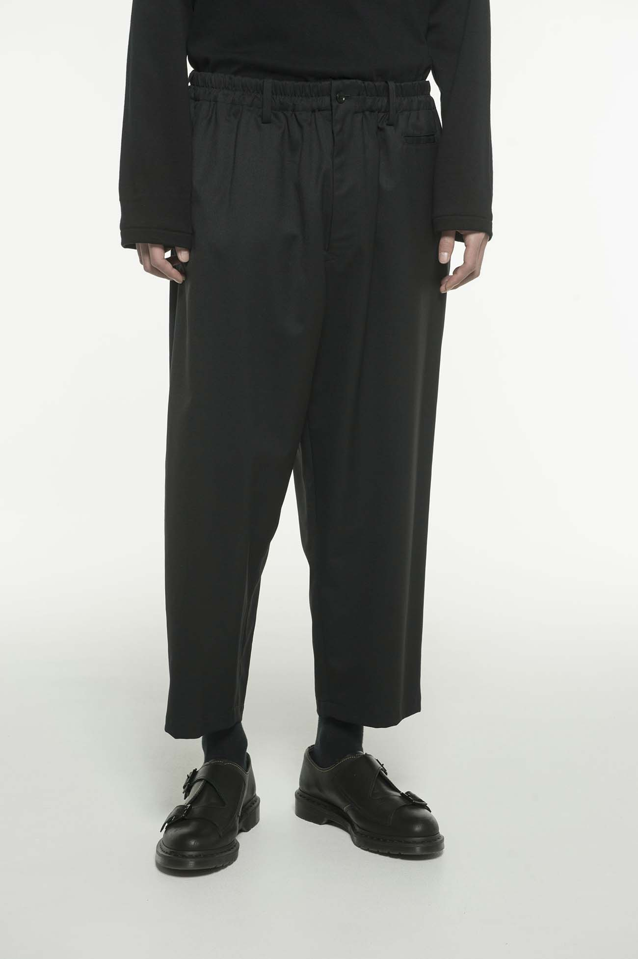 羊毛混纺九分裤