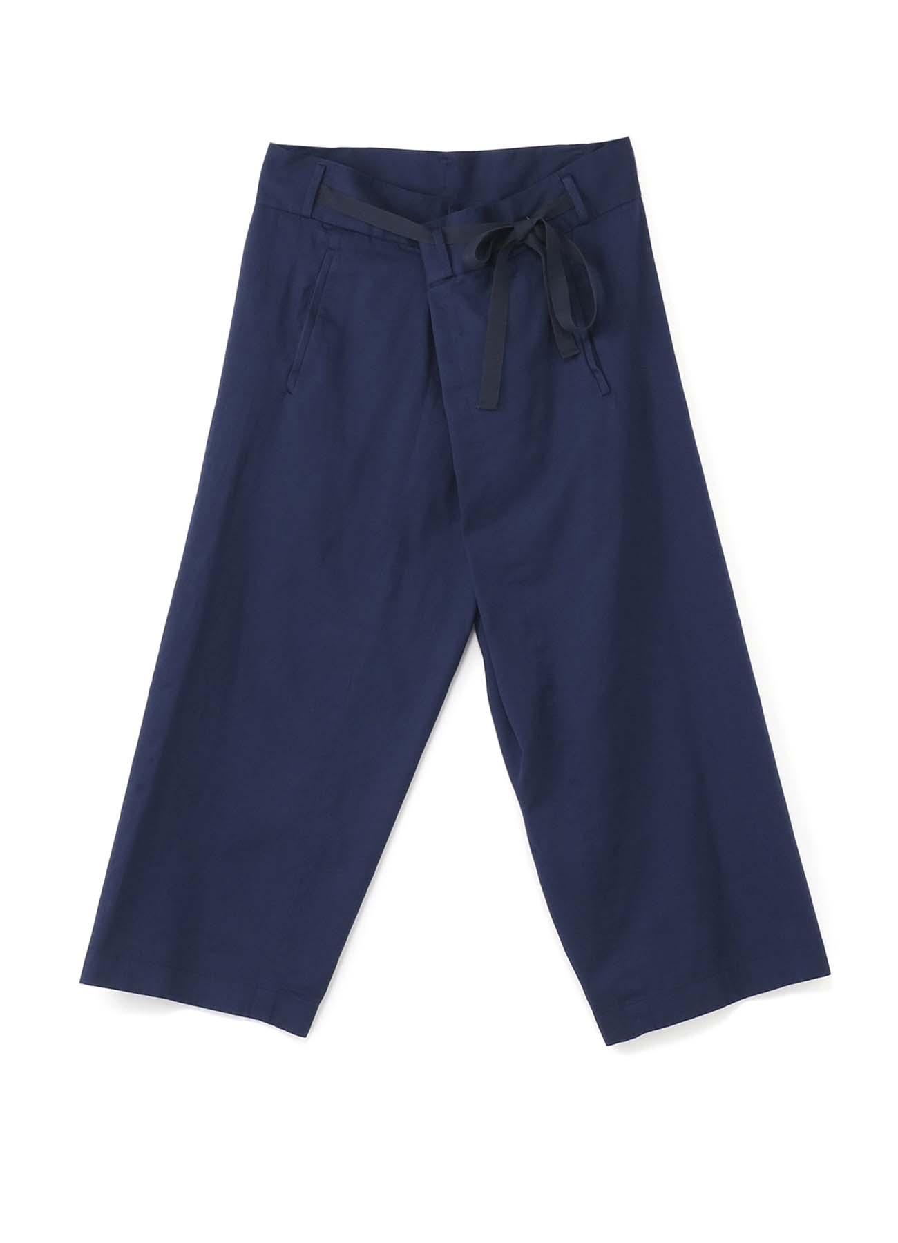斜纹错位腰身长裤
