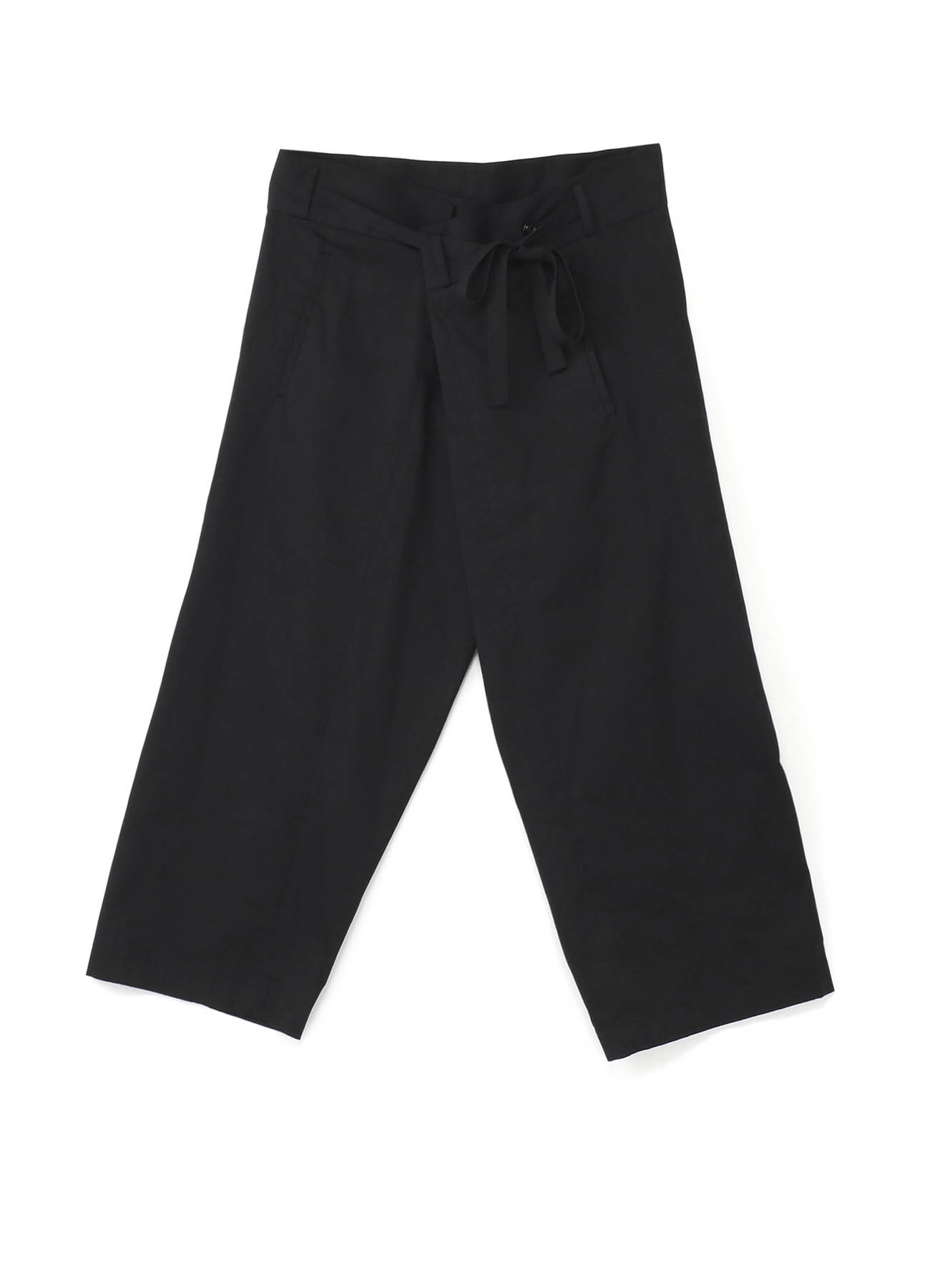 20/Cotton Twill Waist Fold Wide Pants