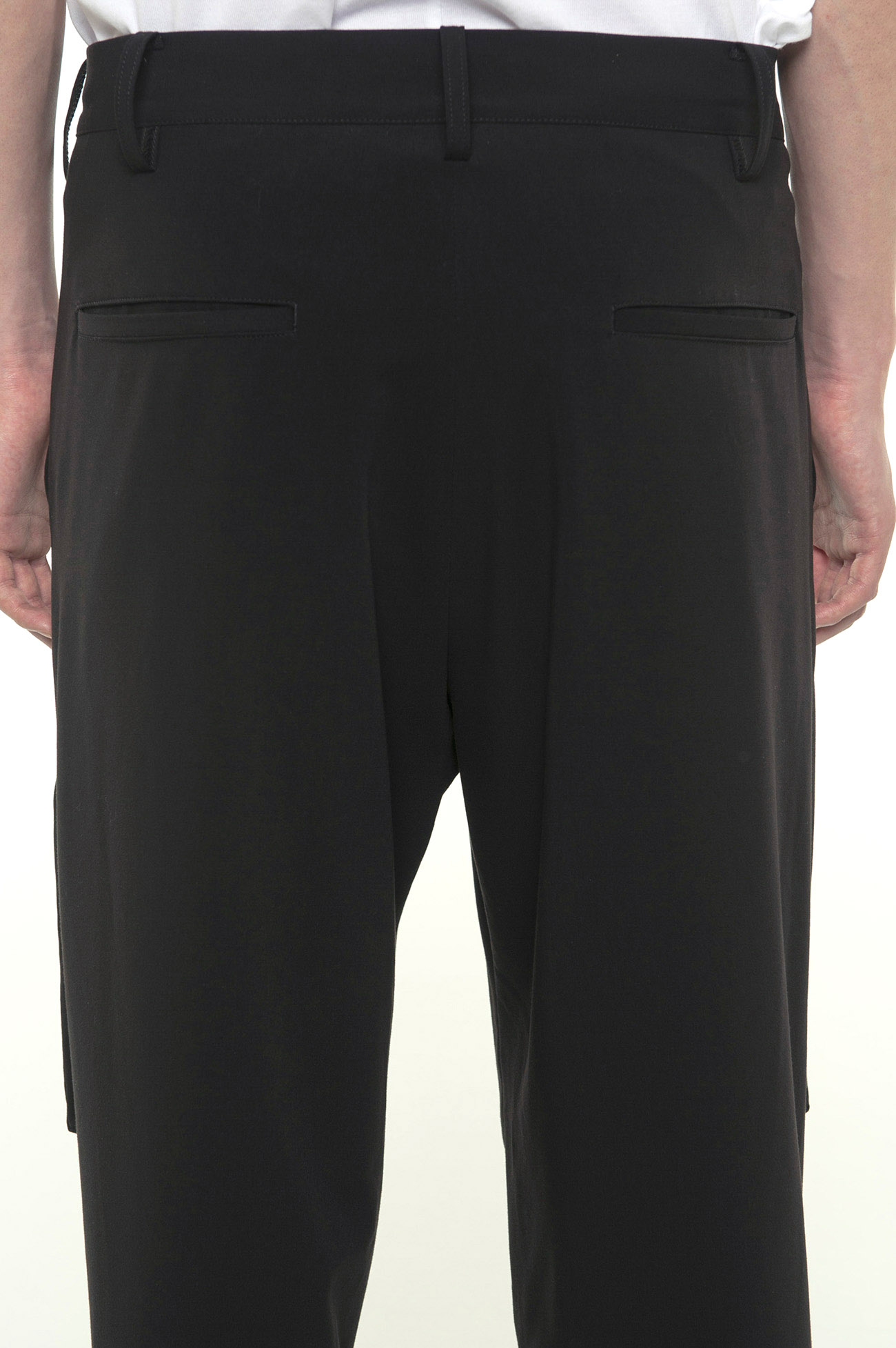 Pe/Rayon Gabardine Stretch Bondage Zipper Cargo Pants