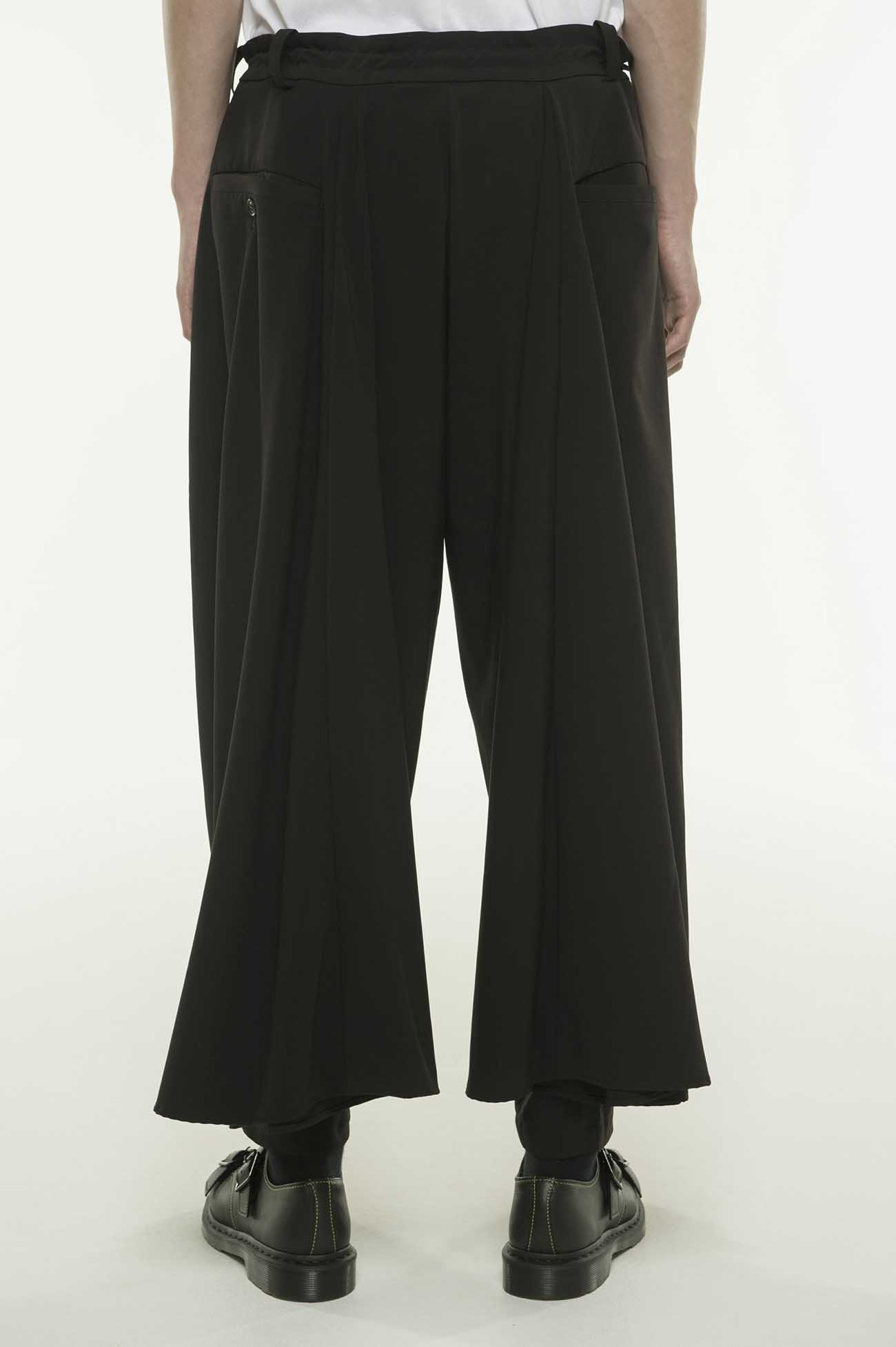 Pe/Rayon Gabardine Stretch Back flare Seam Crow Pants